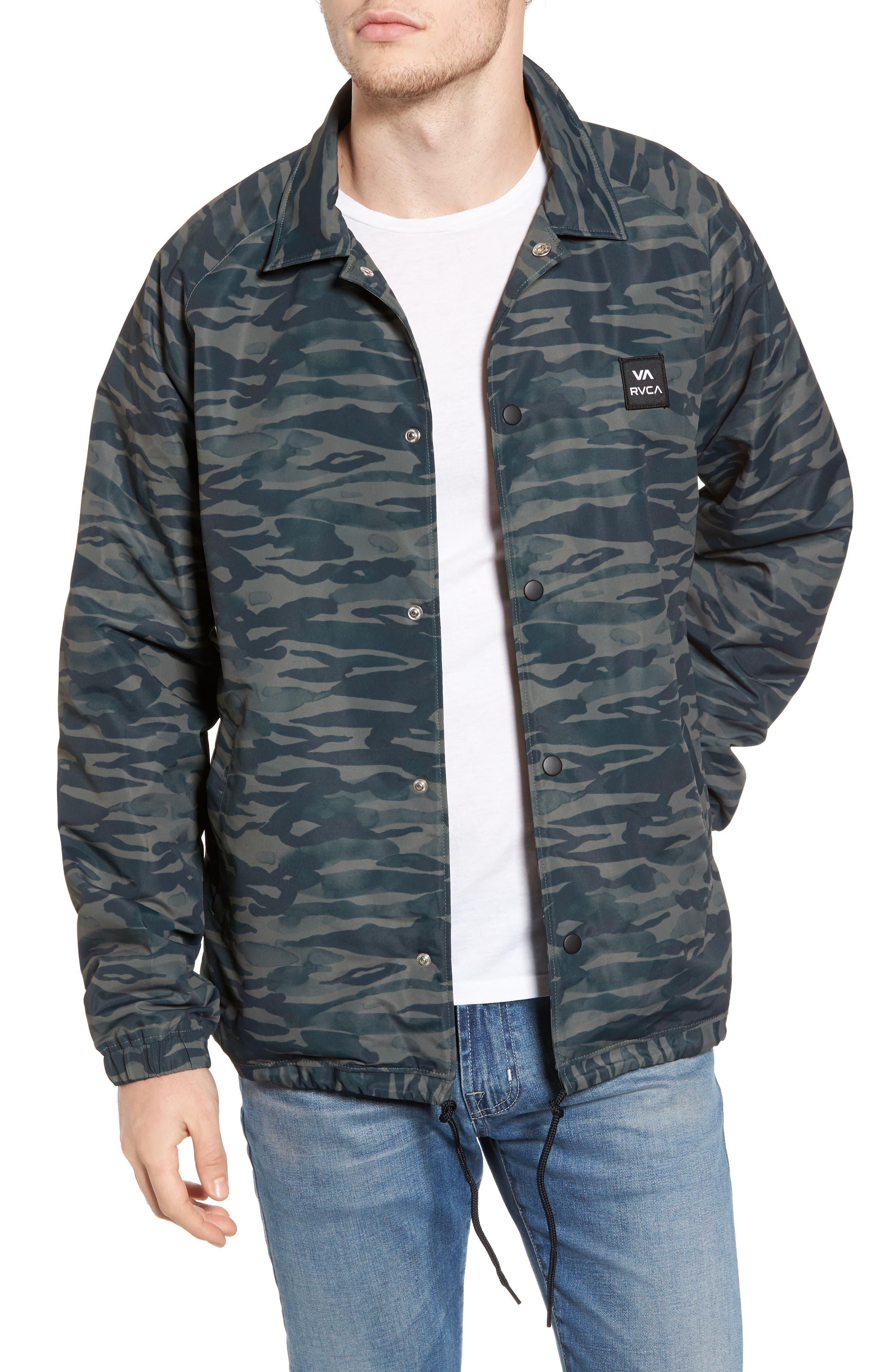 All the Way Coach's Jacket,                         Main,                         color, Camo