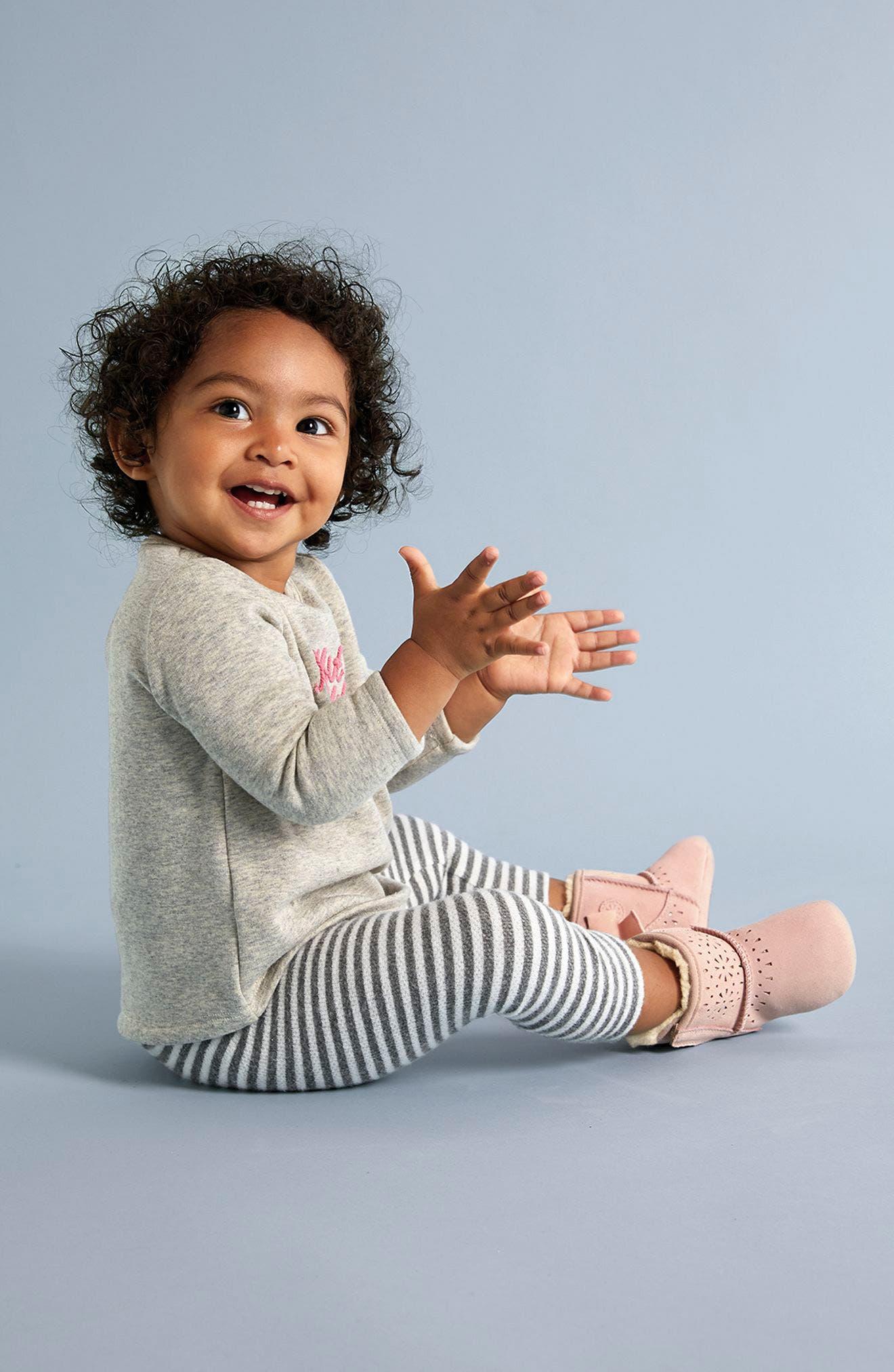Alternate Image 4  - Nordstrom Baby Fleece Tunic & Leggings Set (Baby Girls)