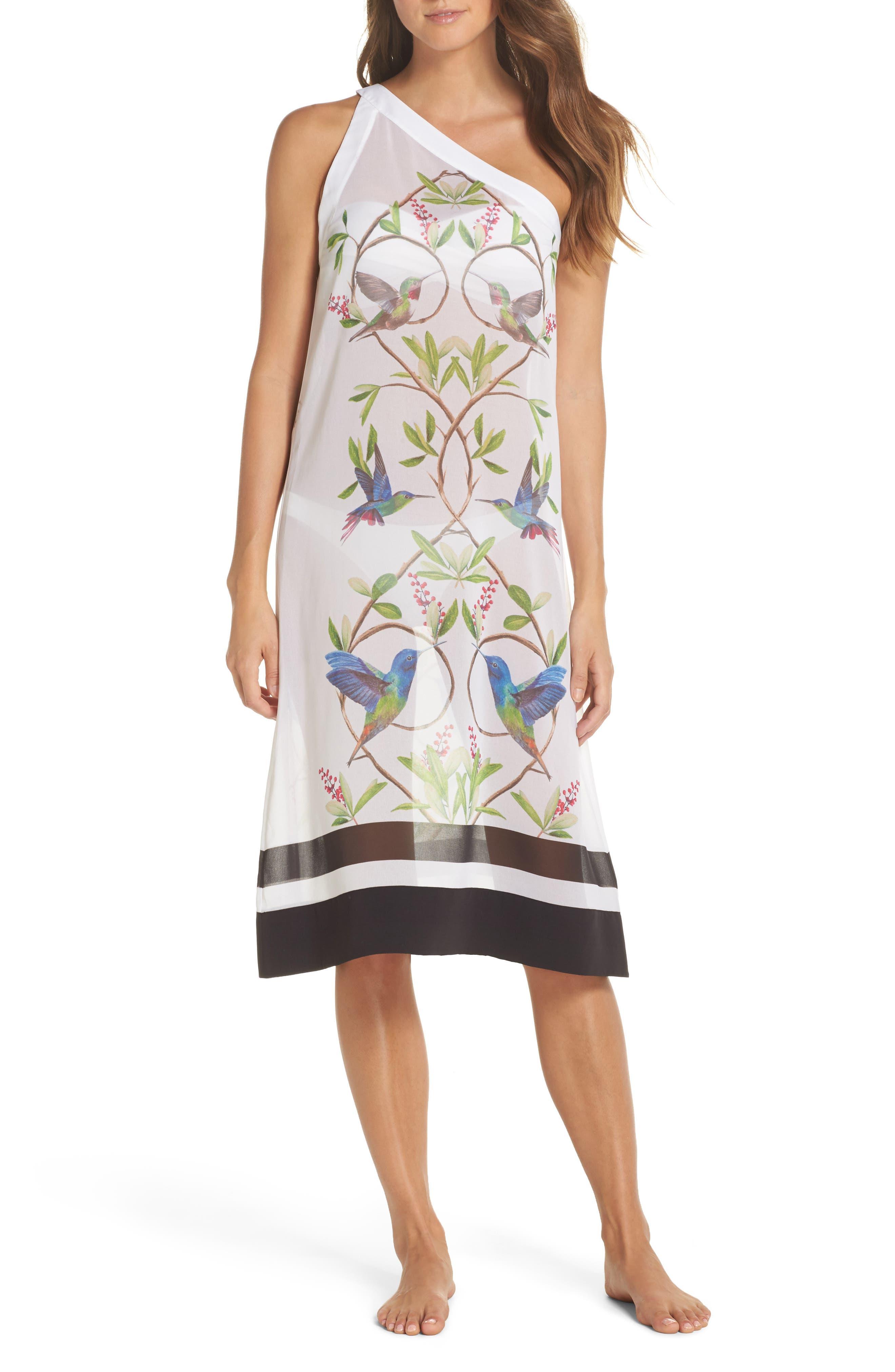 Ted Baker London Highgrove One-Shoulder Cover-Up Dress