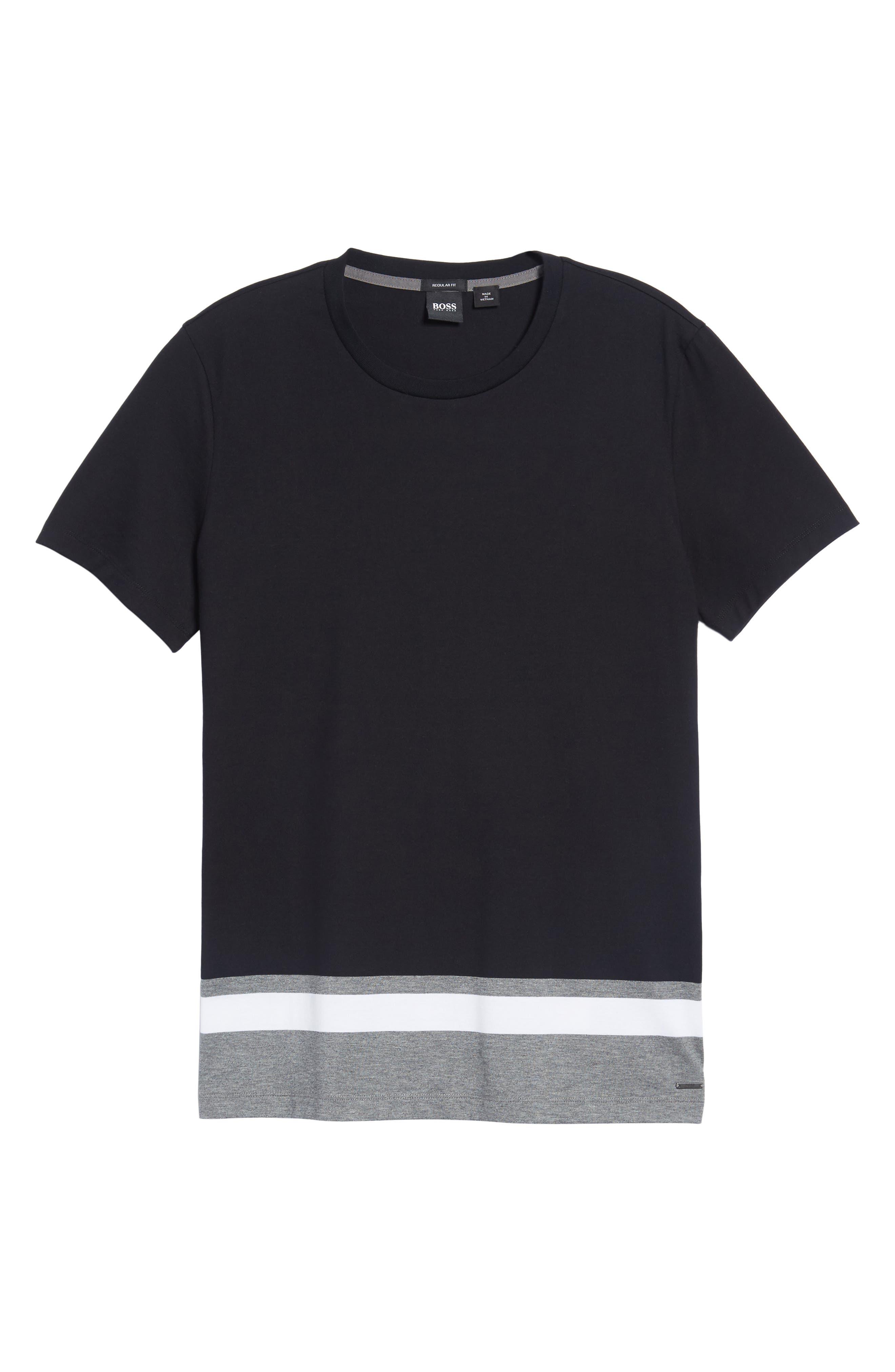 Tiburt Colorblock T-Shirt,                             Alternate thumbnail 6, color,                             Black
