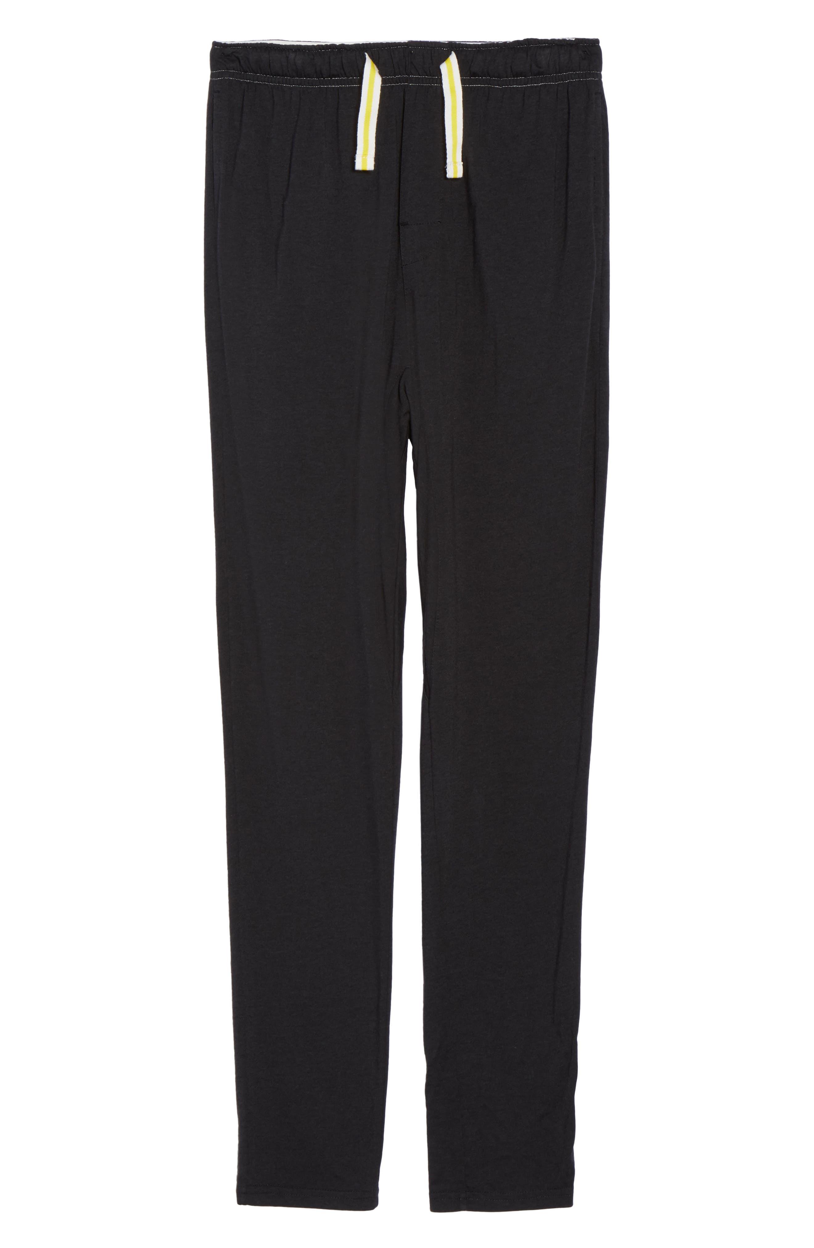 Alice Lounge Pants,                             Alternate thumbnail 4, color,                             Plain Black Marle
