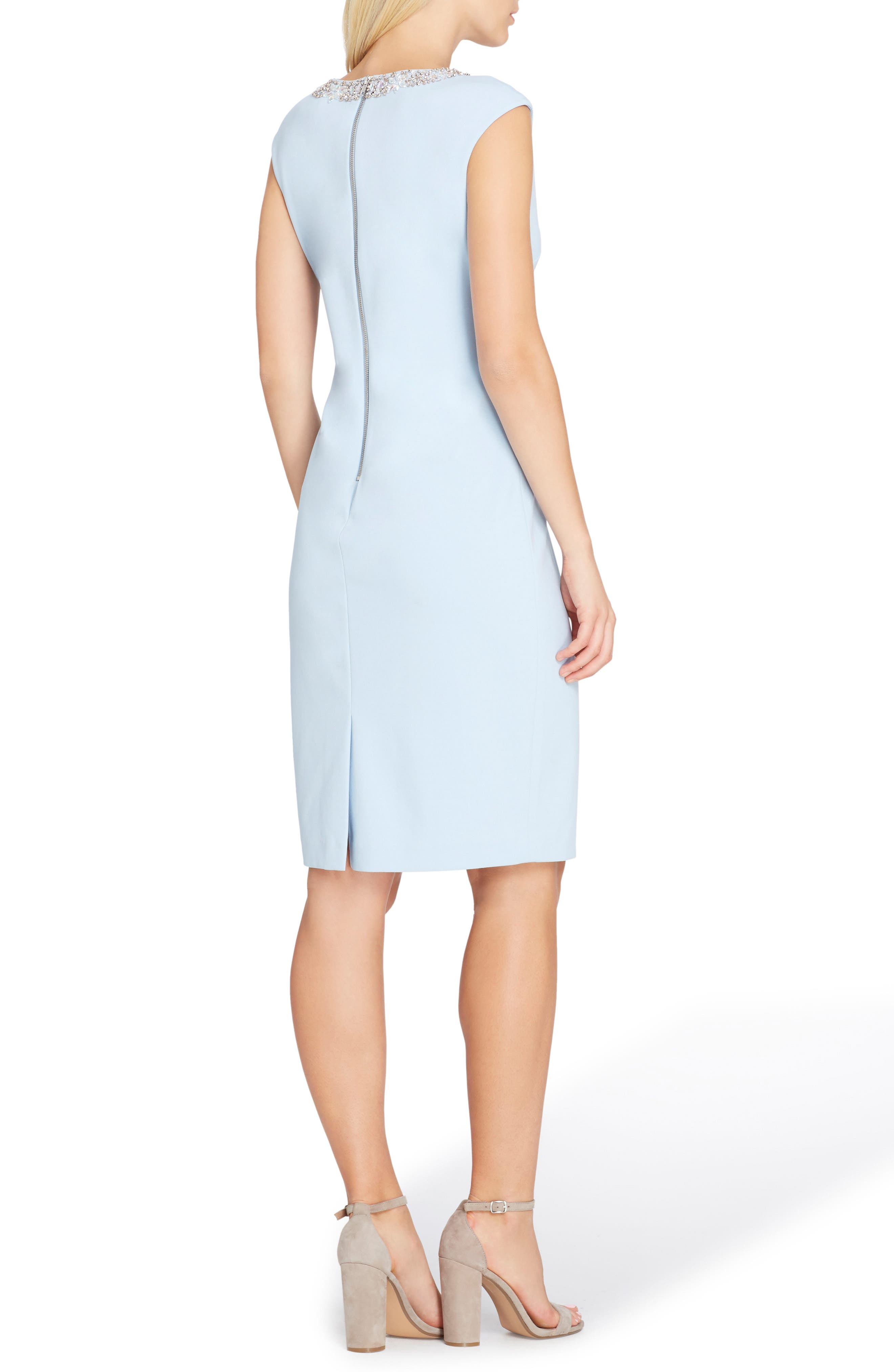 Embellished Sheath Dress,                             Alternate thumbnail 2, color,                             Crystal Blue