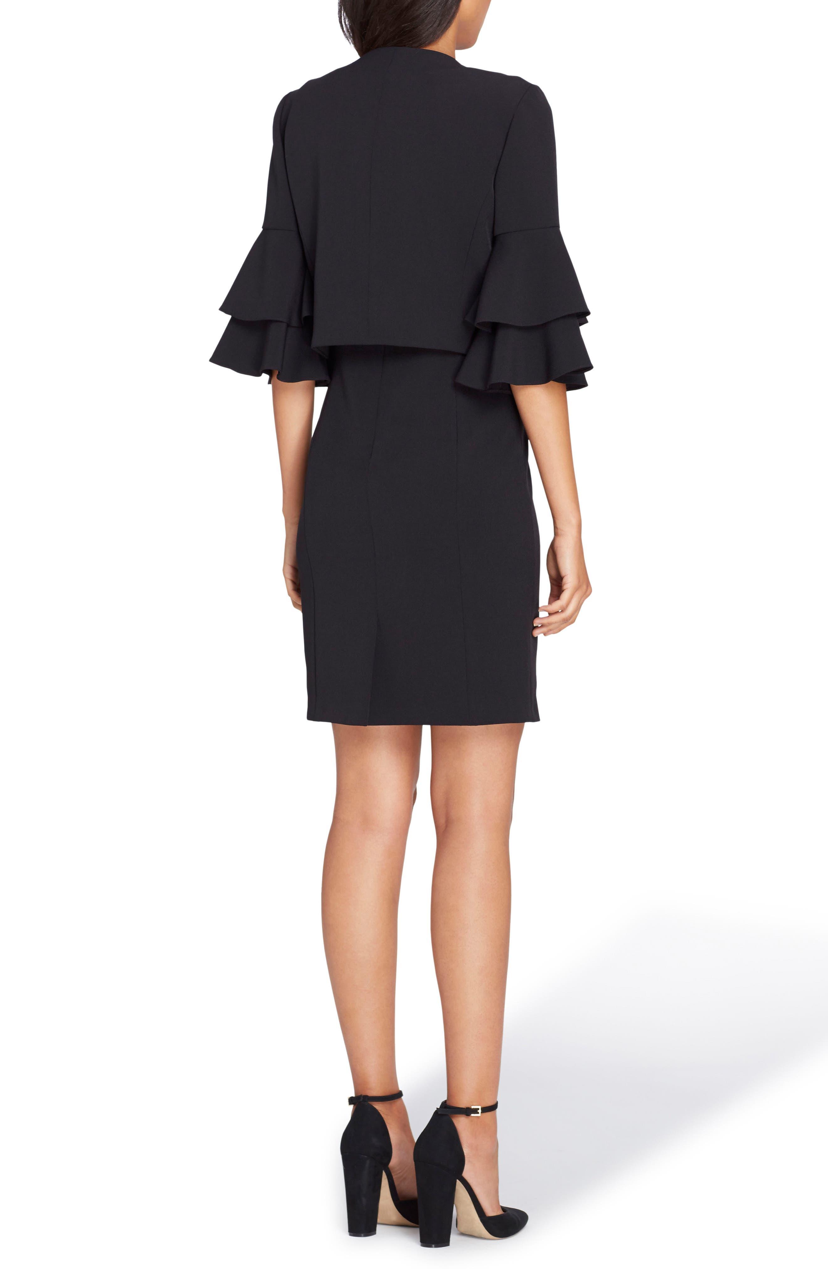 Sheath Dress with Jacket,                             Alternate thumbnail 2, color,                             Black