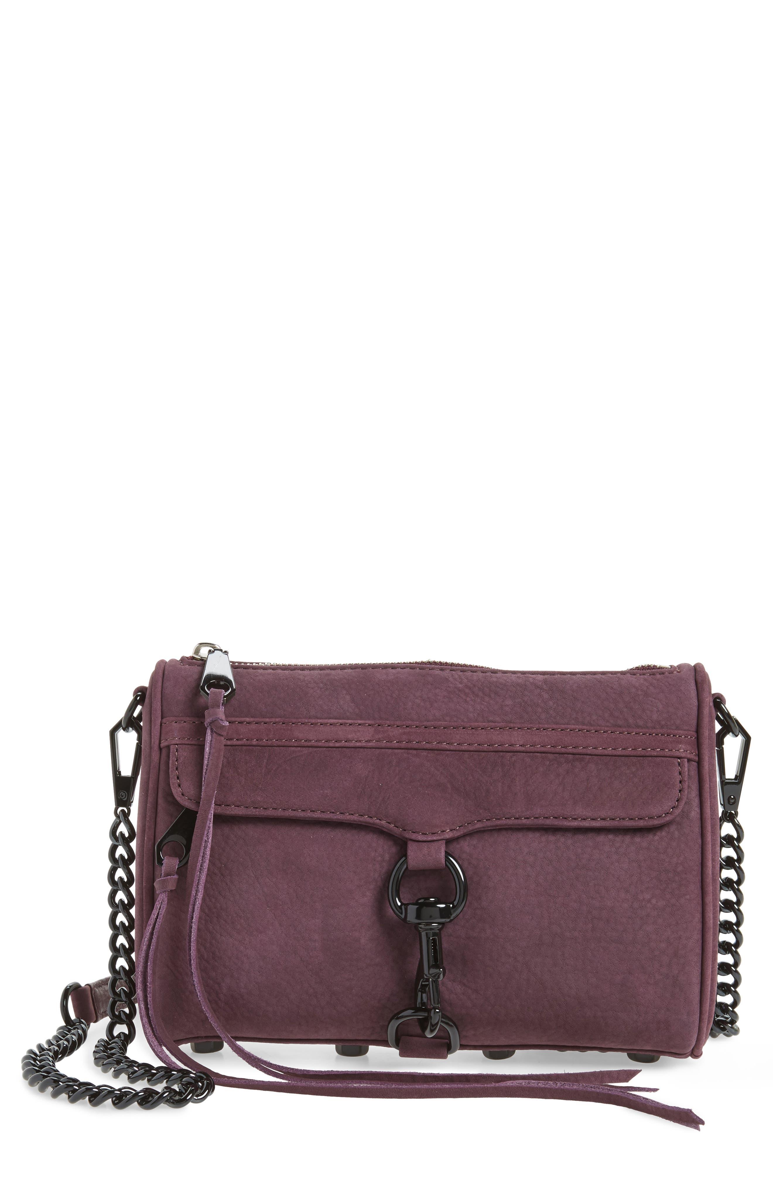 Main Image - Rebecca Minkoff Mini MAC Nubuck Convertible Crossbody Bag