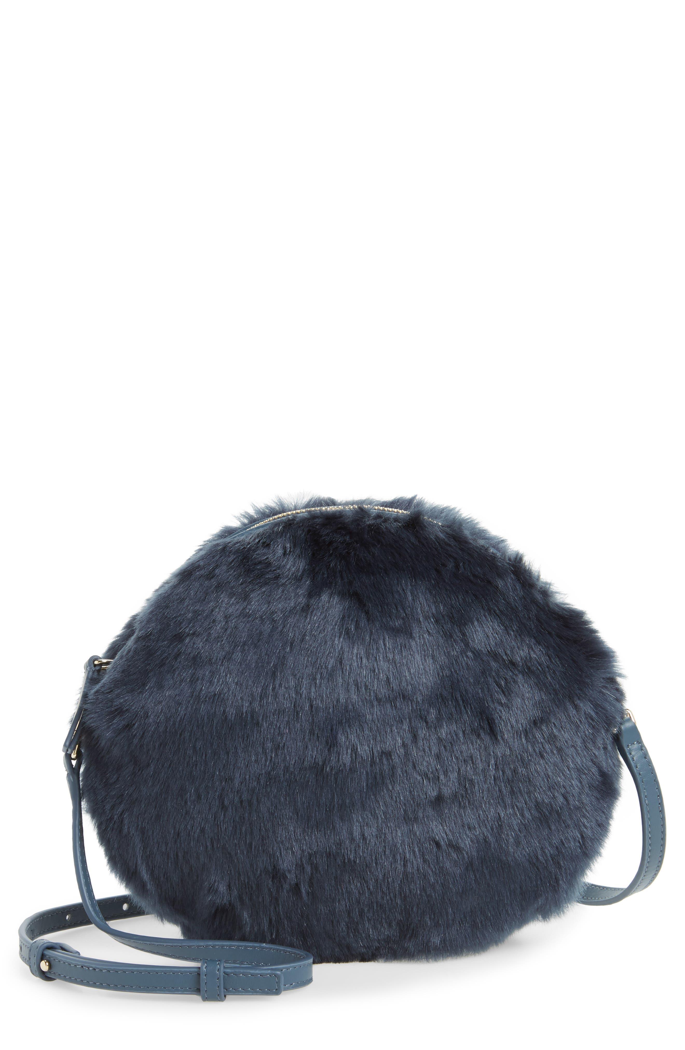 Furla Caos Faux Fur Crossbody Bag