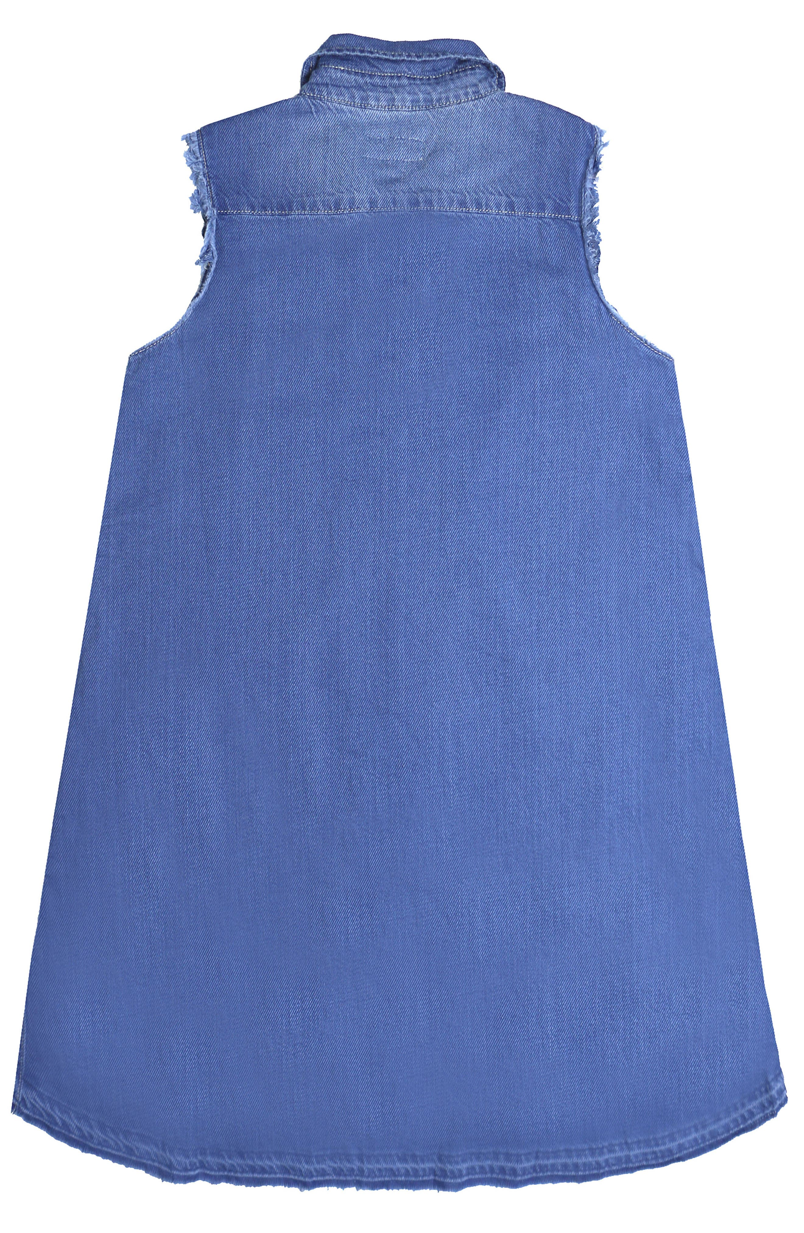 Chambray Shirt Dress,                             Alternate thumbnail 2, color,                             Indigo