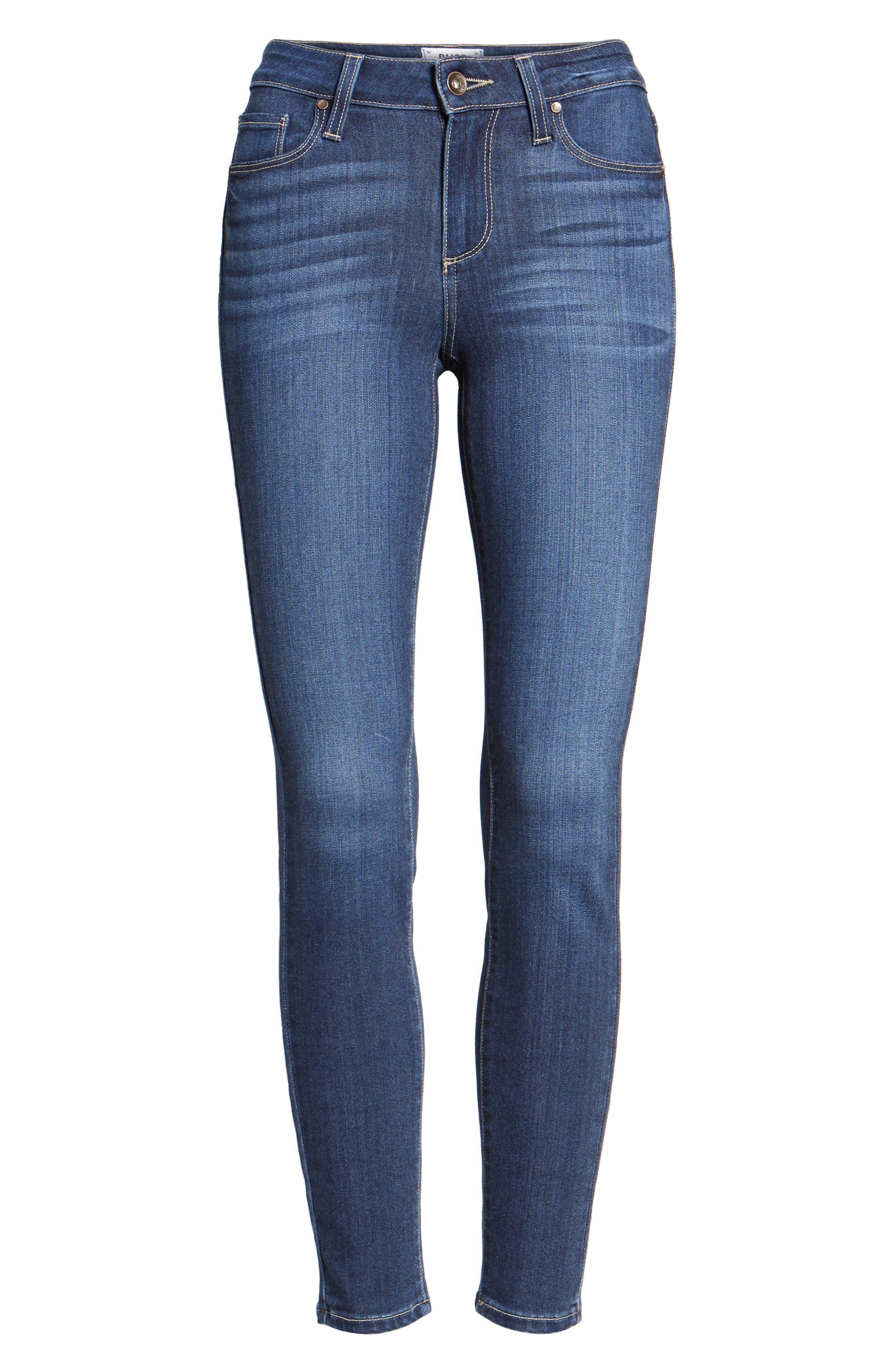 Transcend - Verdugo Ankle Skinny Jeans,                             Alternate thumbnail 6, color,                             Blue