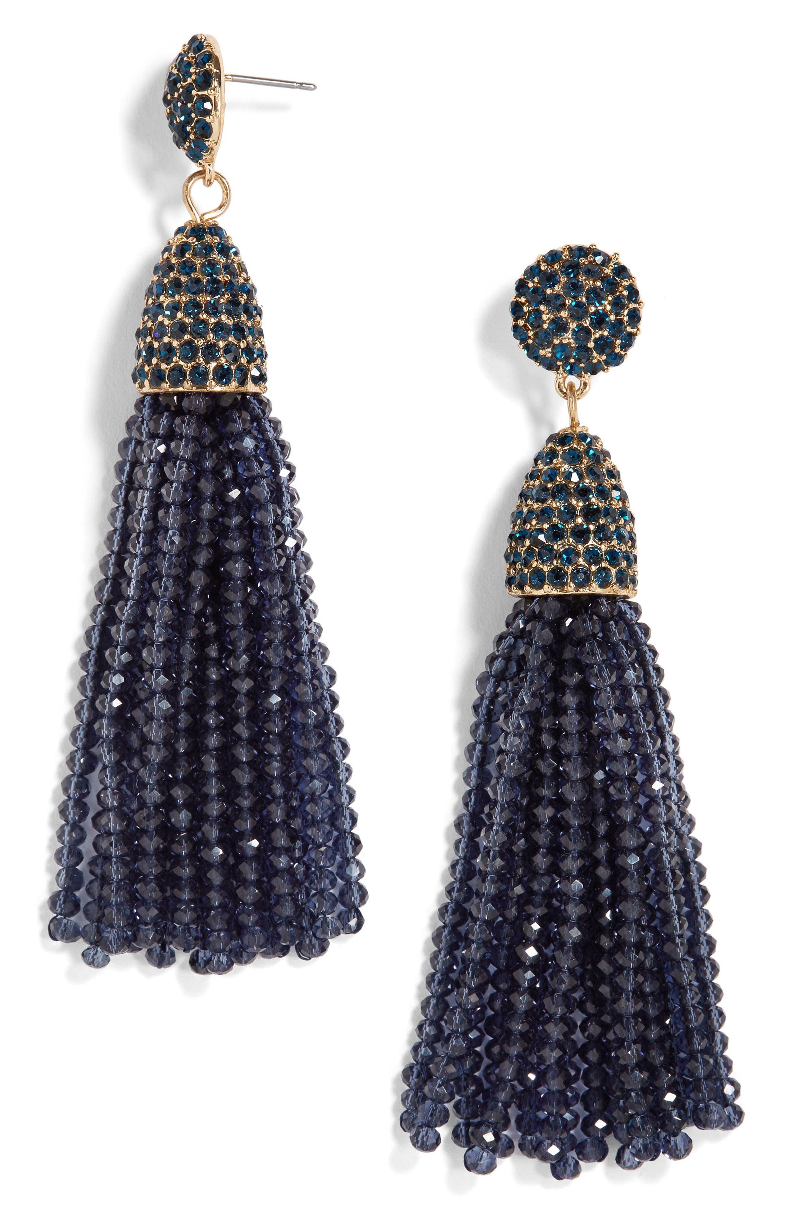 BaubleBar Gem Piñata Tassel Drop Earrings