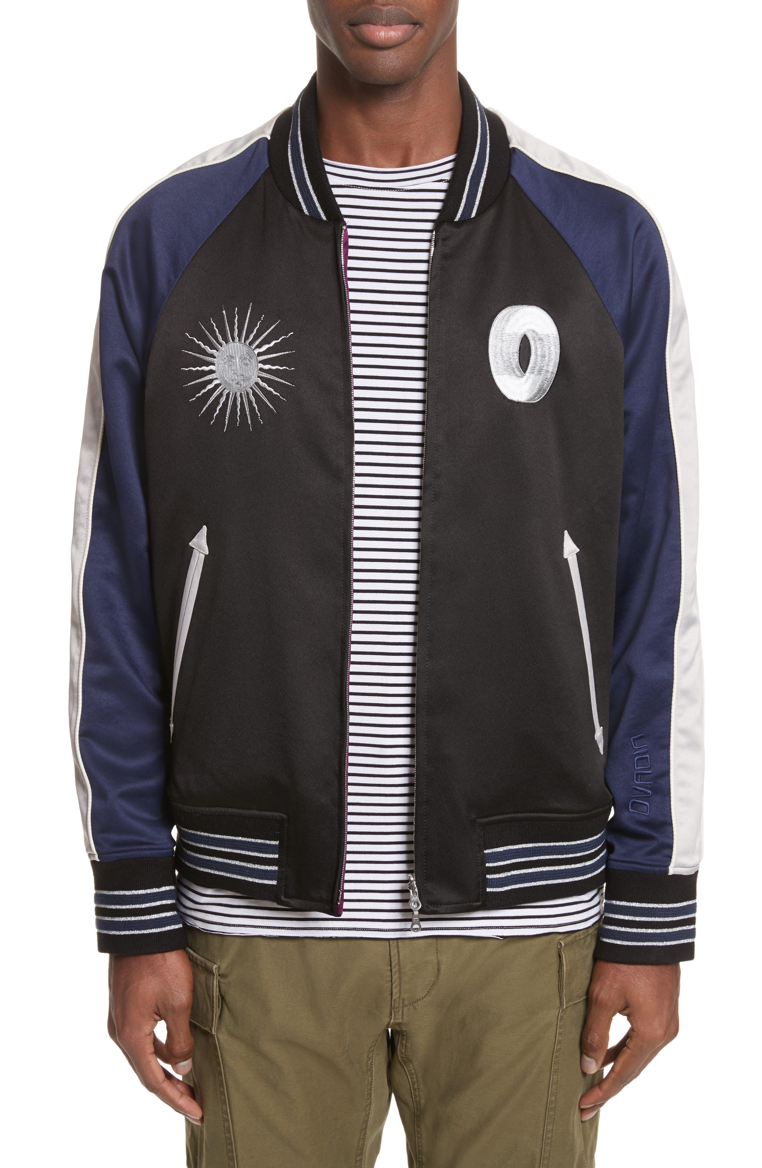 Reversible Souvenir Jacket,                         Main,                         color, Black/ Midnight