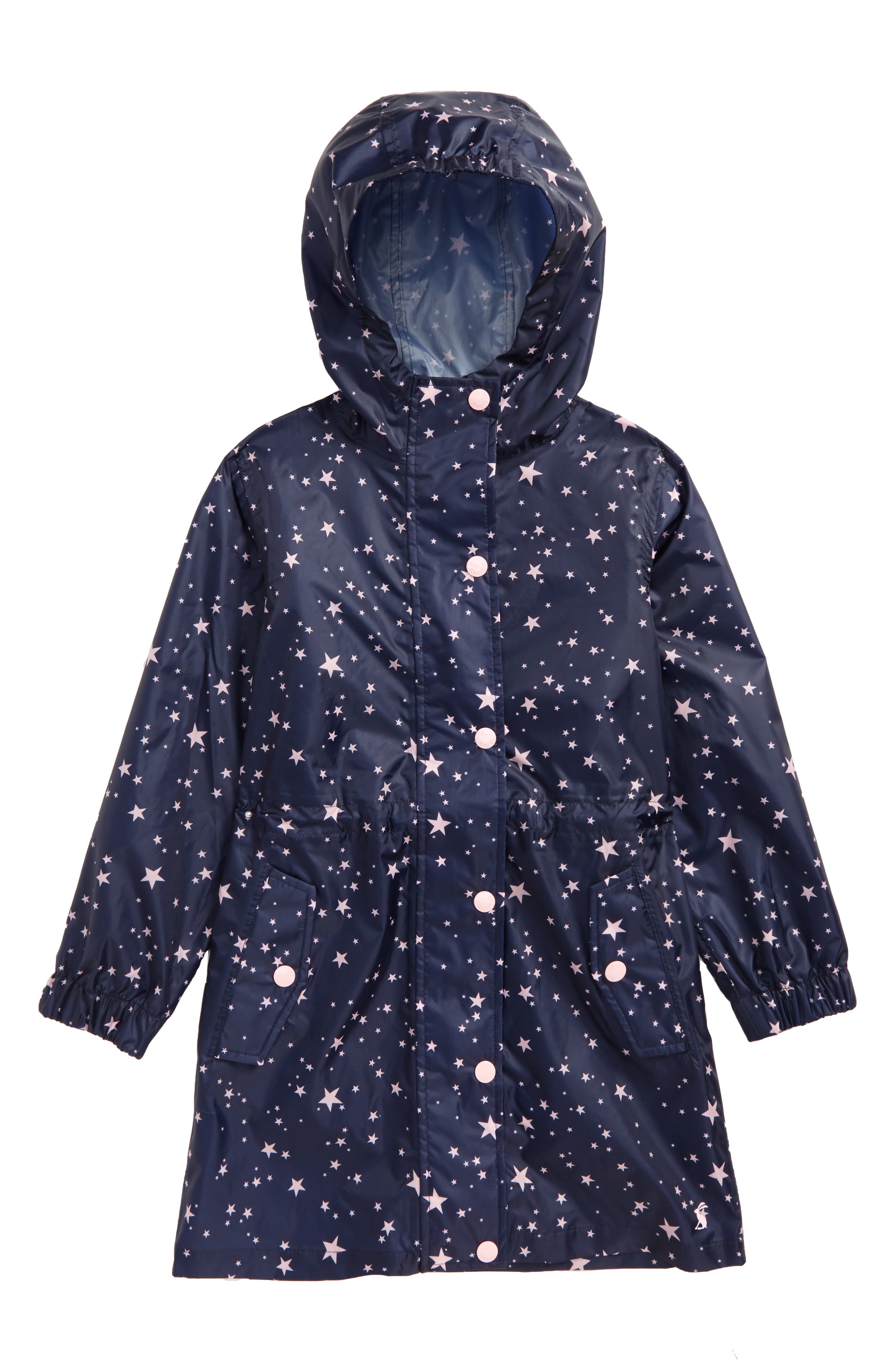 Print Packaway Rain Coat,                             Main thumbnail 1, color,                             Star
