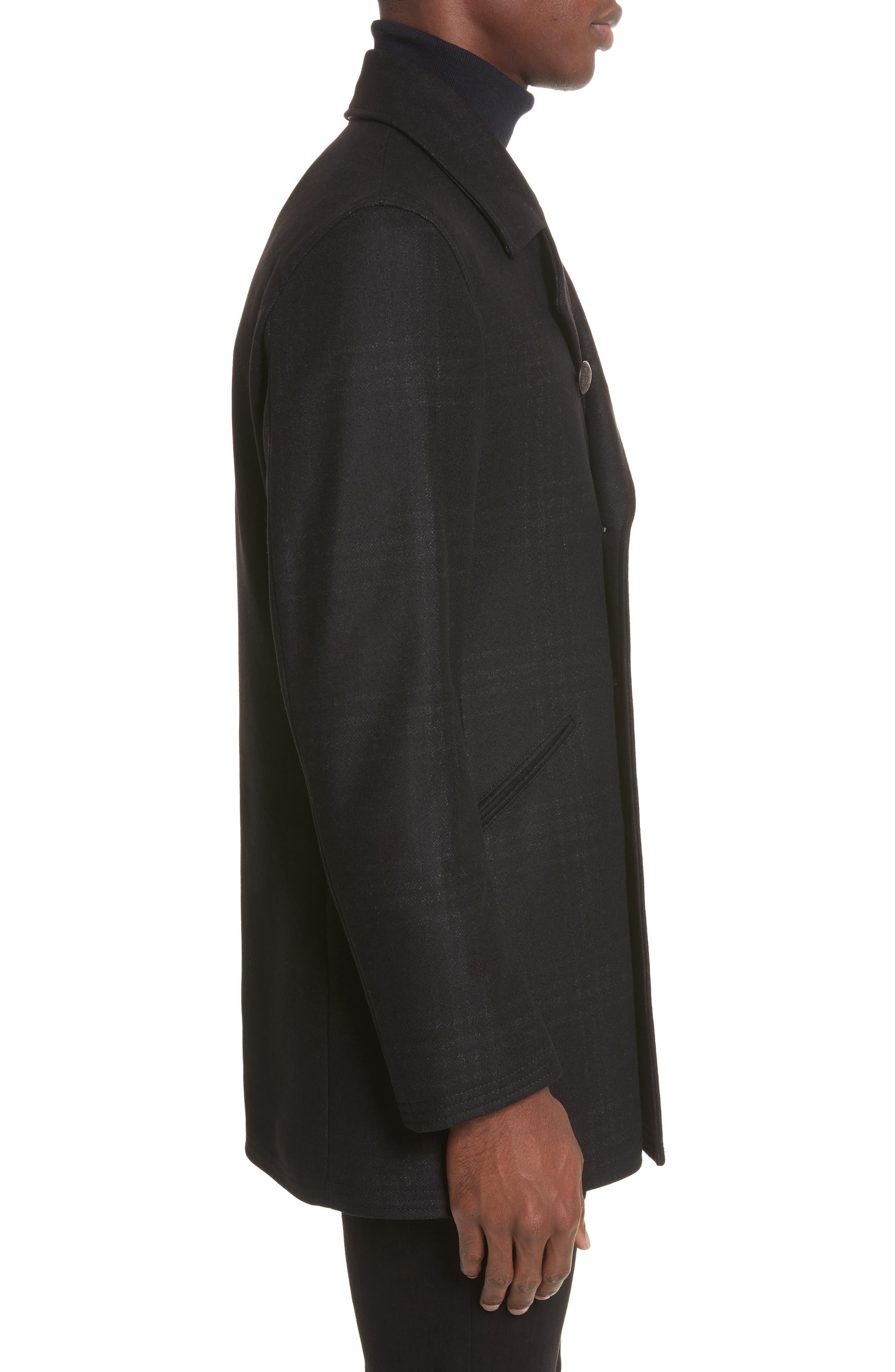 Alternate Image 3  - John Varvatos Star USA Hook Plaid Wool Blend Topcoat