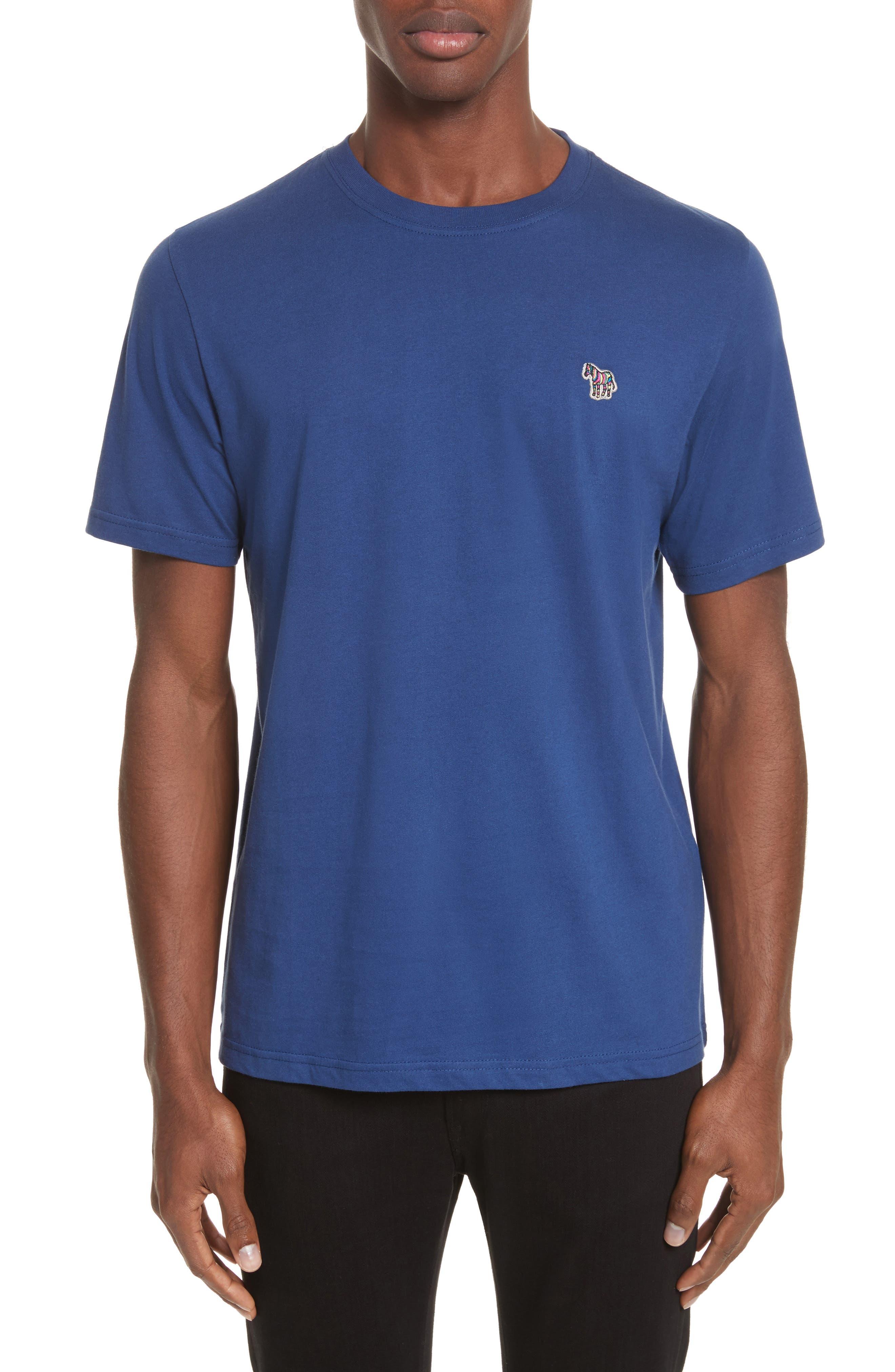 Zebra Logo T-Shirt,                             Main thumbnail 1, color,                             Blue
