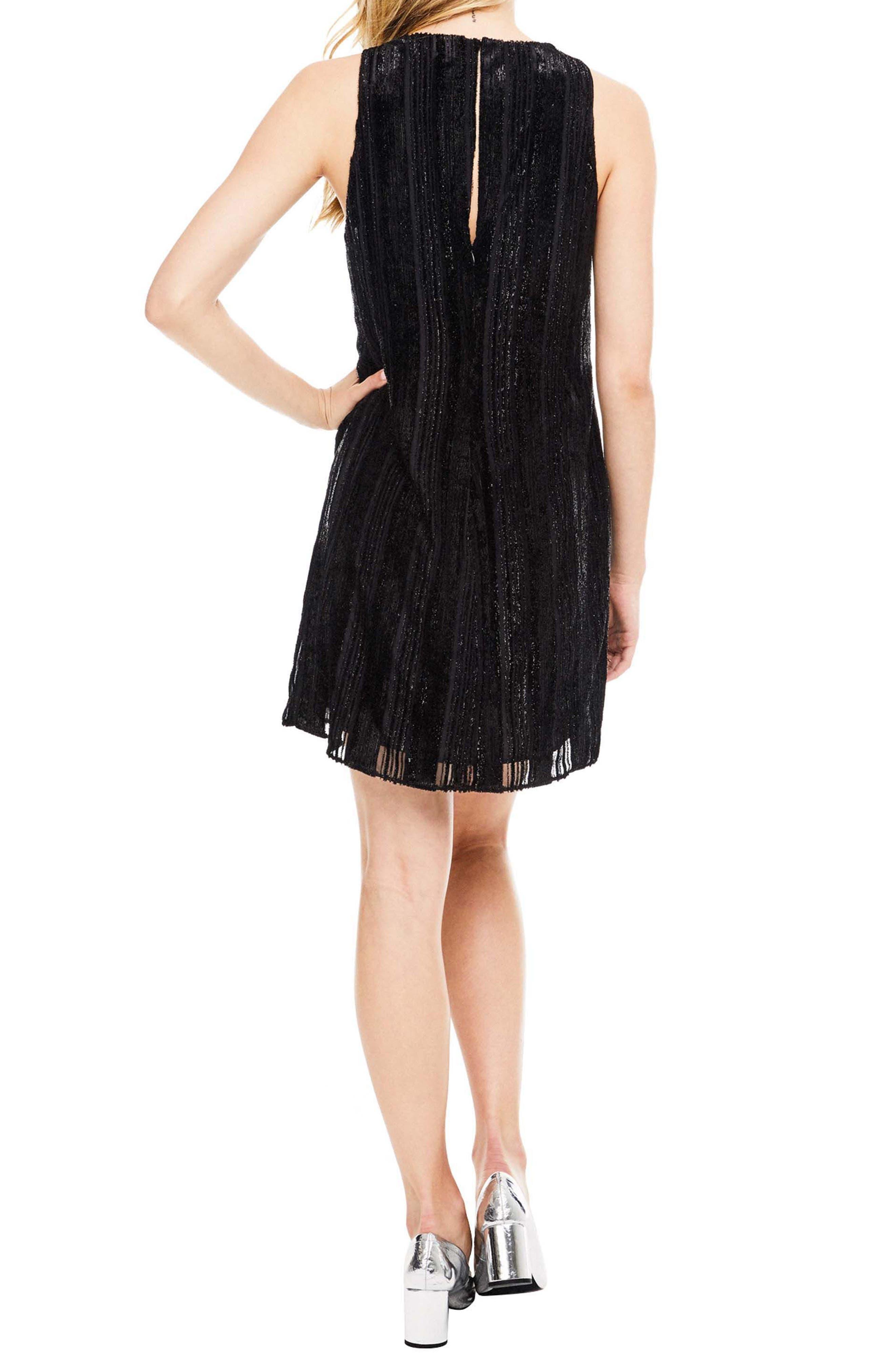 Molly Minidress,                             Alternate thumbnail 2, color,                             Black Velvet Stripe
