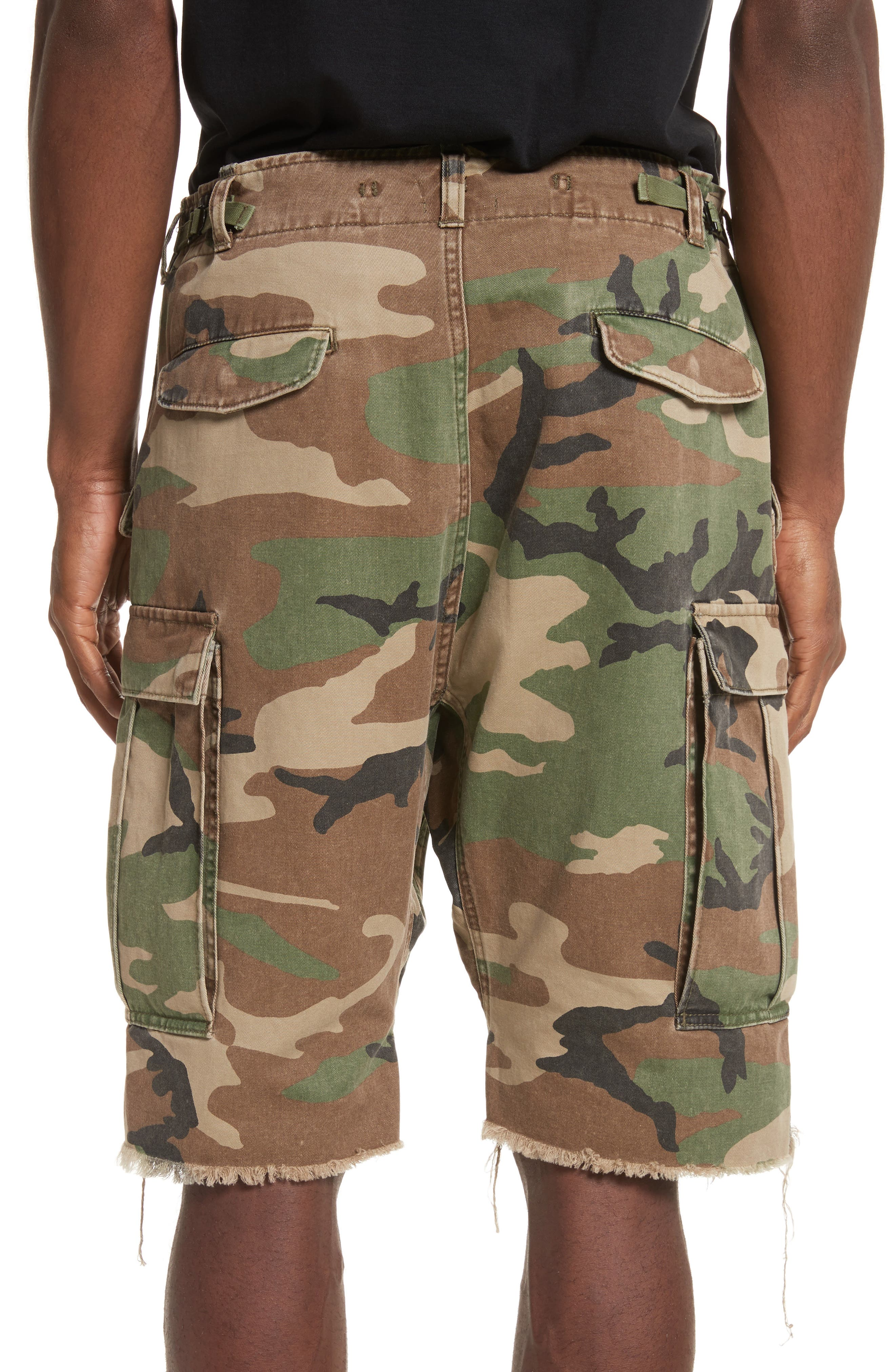 Surplus Shredded Camo Cargo Shorts,                             Alternate thumbnail 2, color,                             Camo