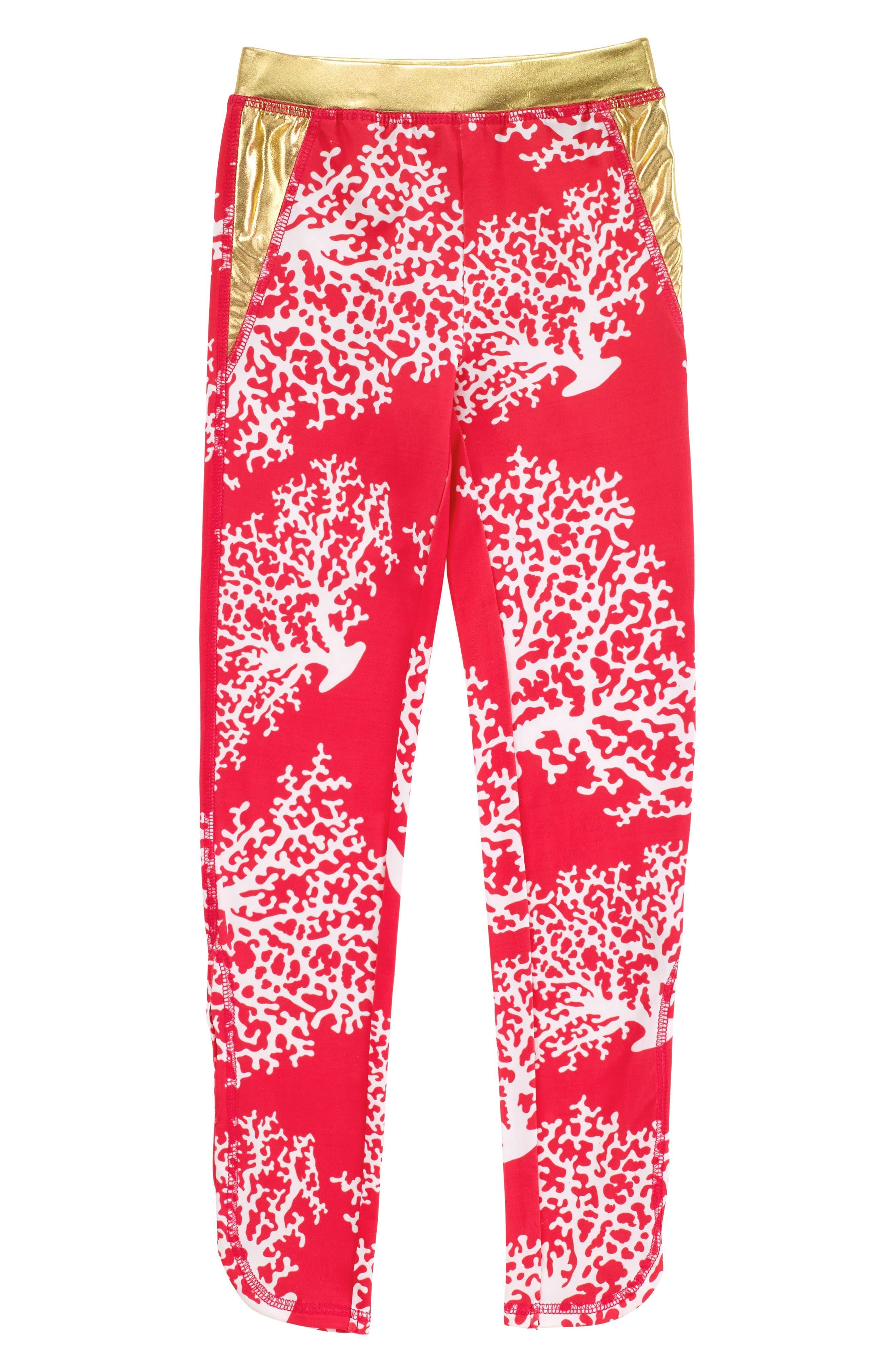 Masalababy Coral Print Actiplay Leggings (Toddler Girls)