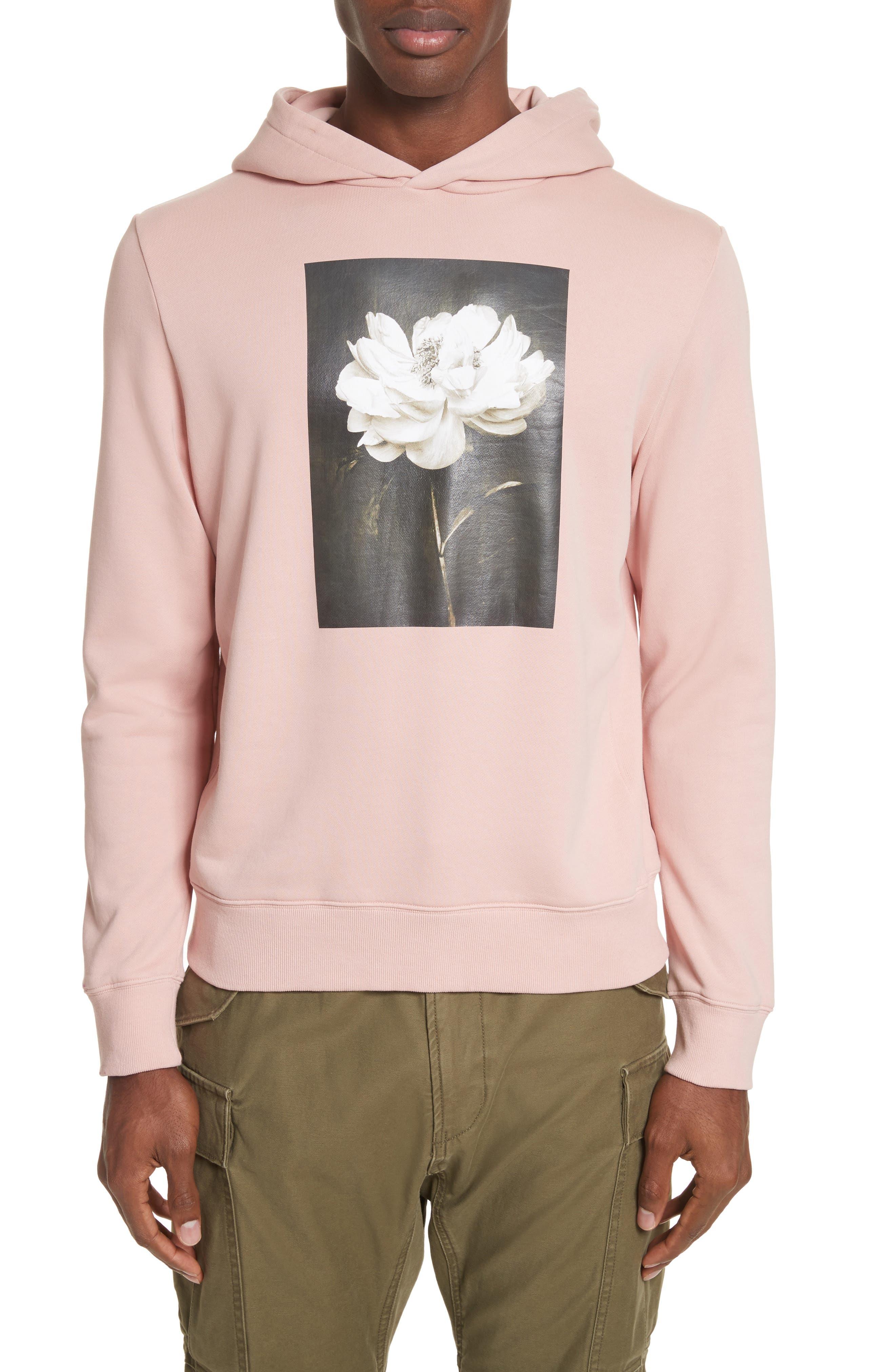 Lotus Flower Graphic Hoodie,                         Main,                         color, Salmon