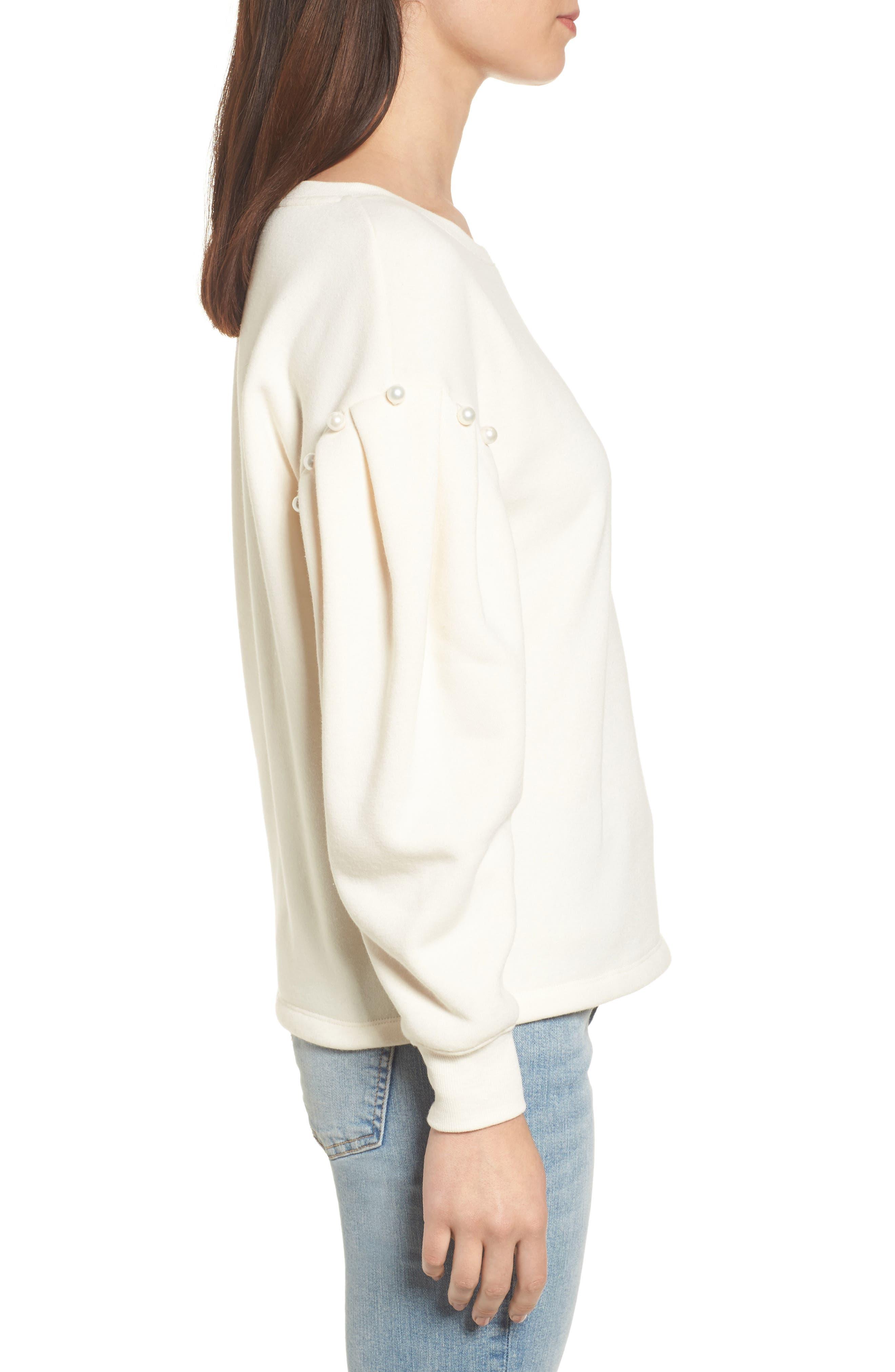 Ellison Sweatshirt,                             Alternate thumbnail 3, color,                             Off White