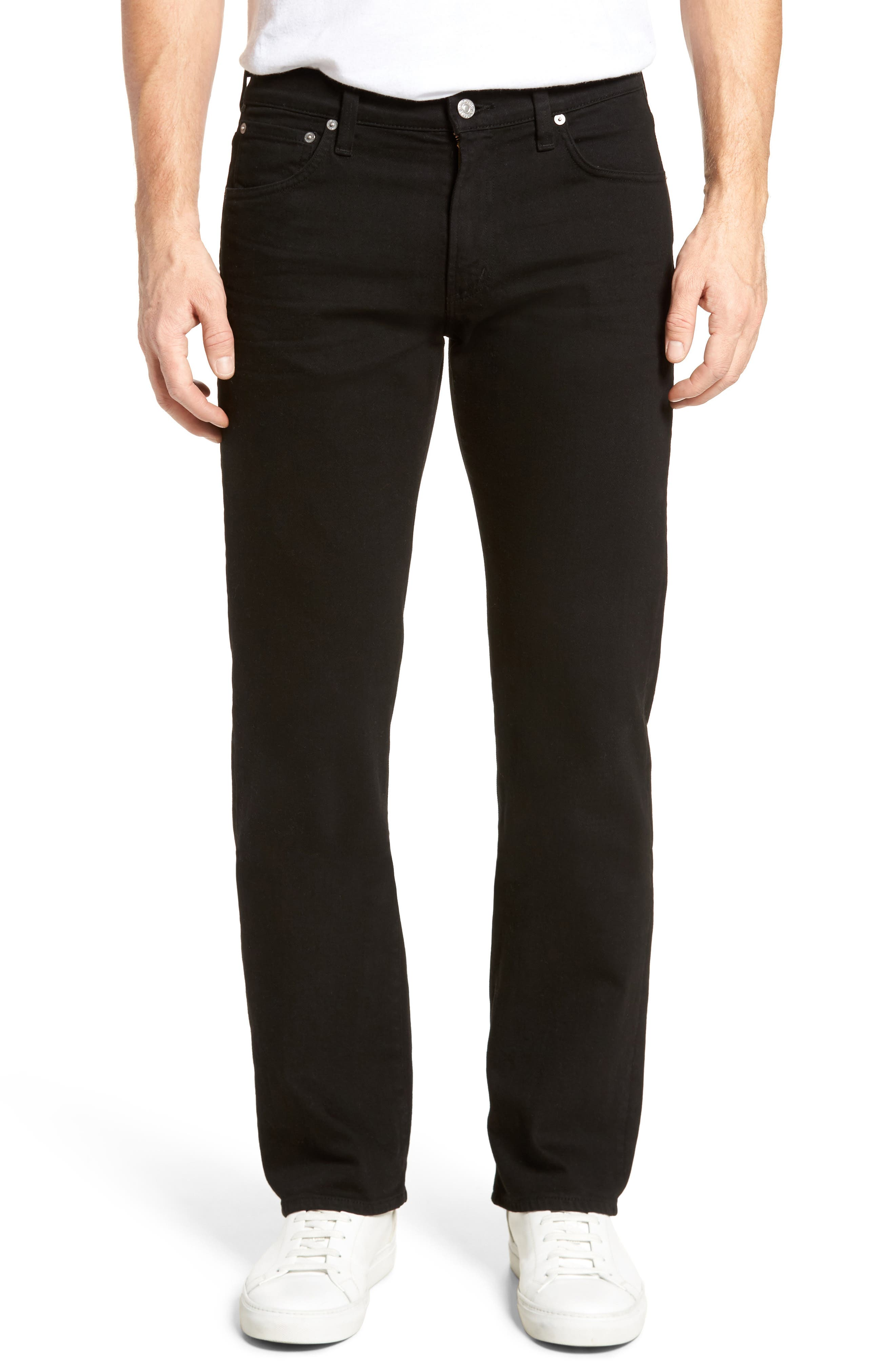 Sid Straight Fit Jeans,                         Main,                         color, Black