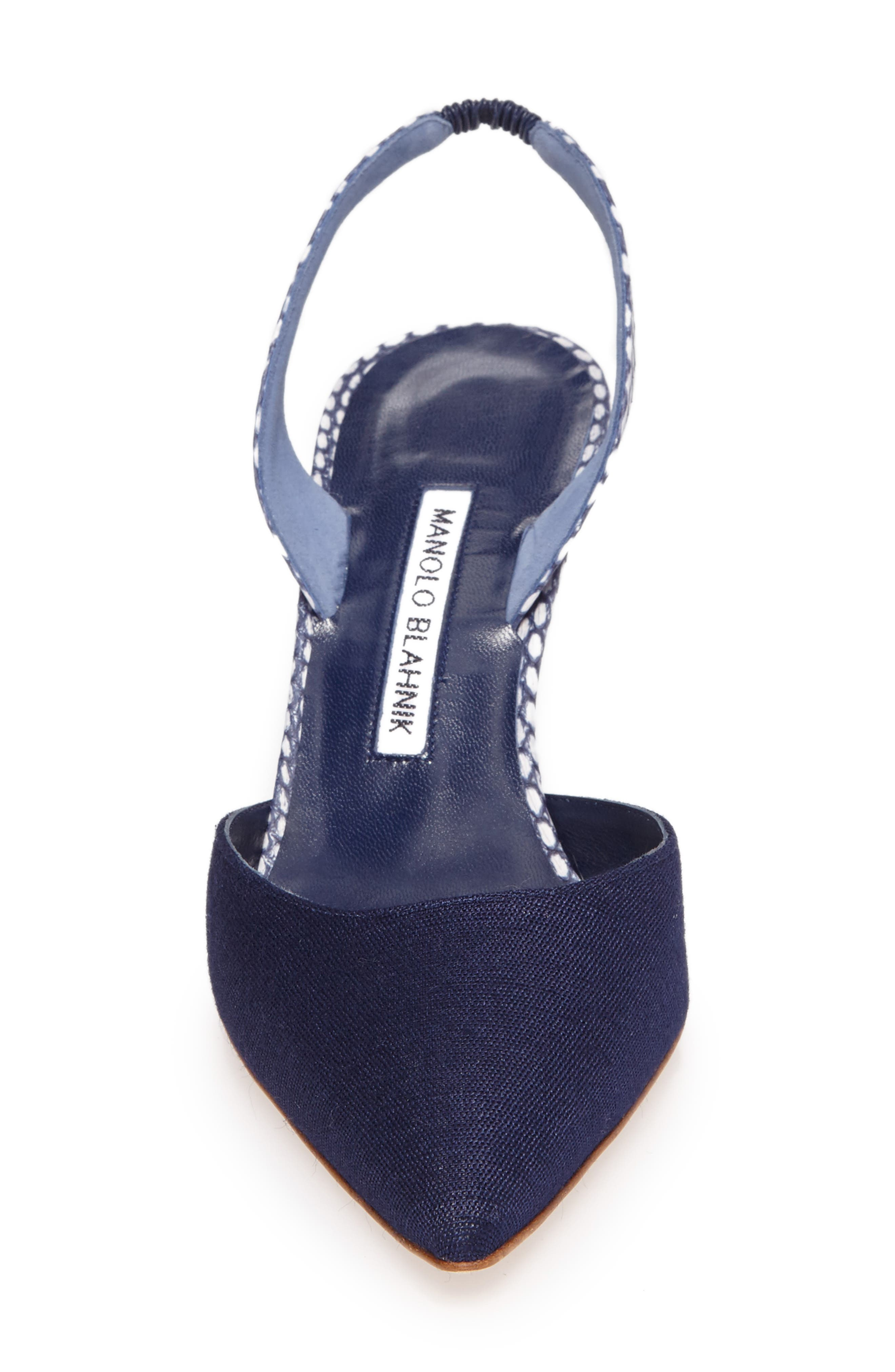 Carolyne Slingback Pump,                             Alternate thumbnail 4, color,                             Navy
