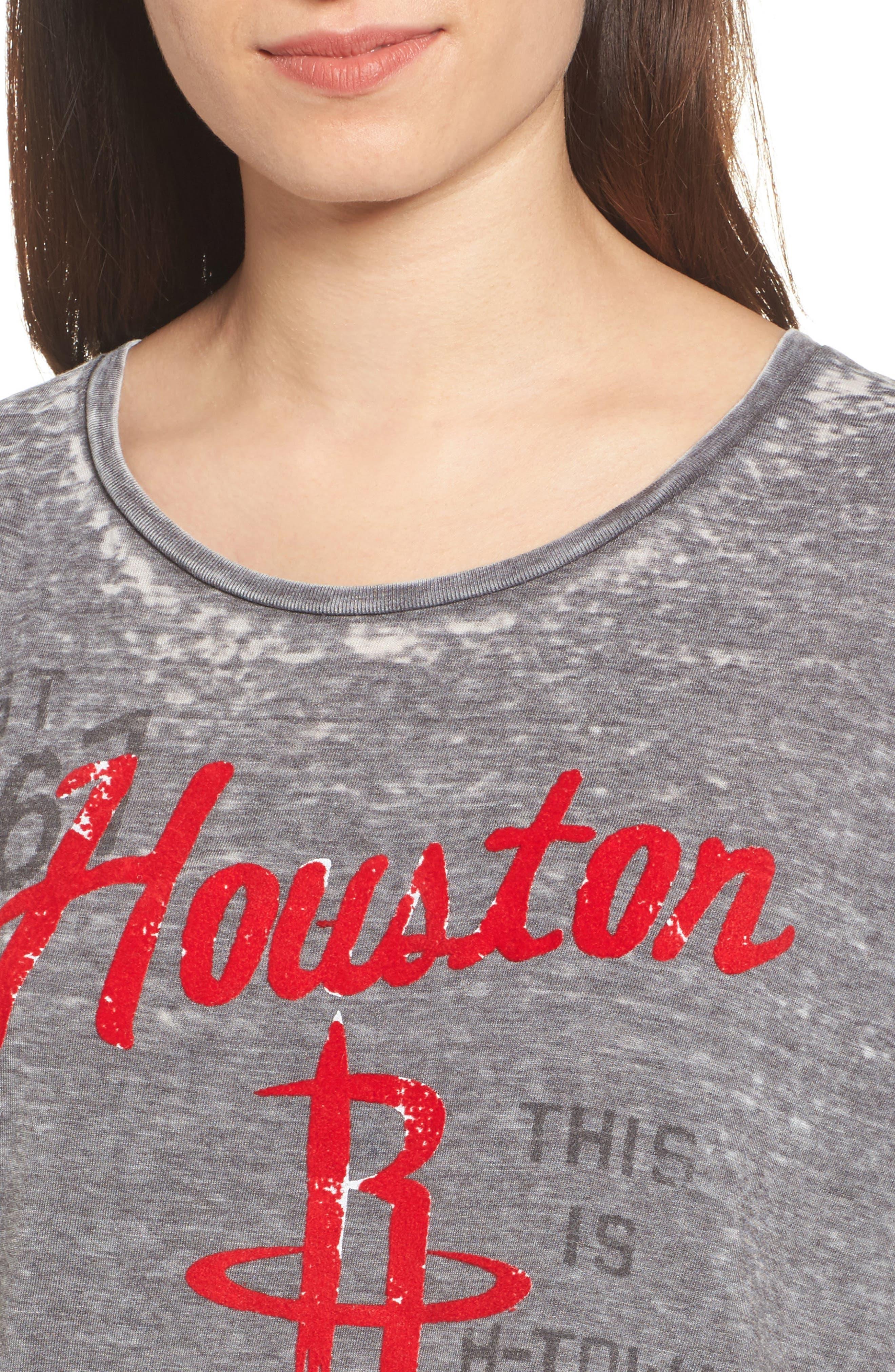 NBA Houston Rockets Tee,                             Alternate thumbnail 4, color,                             Black Wash