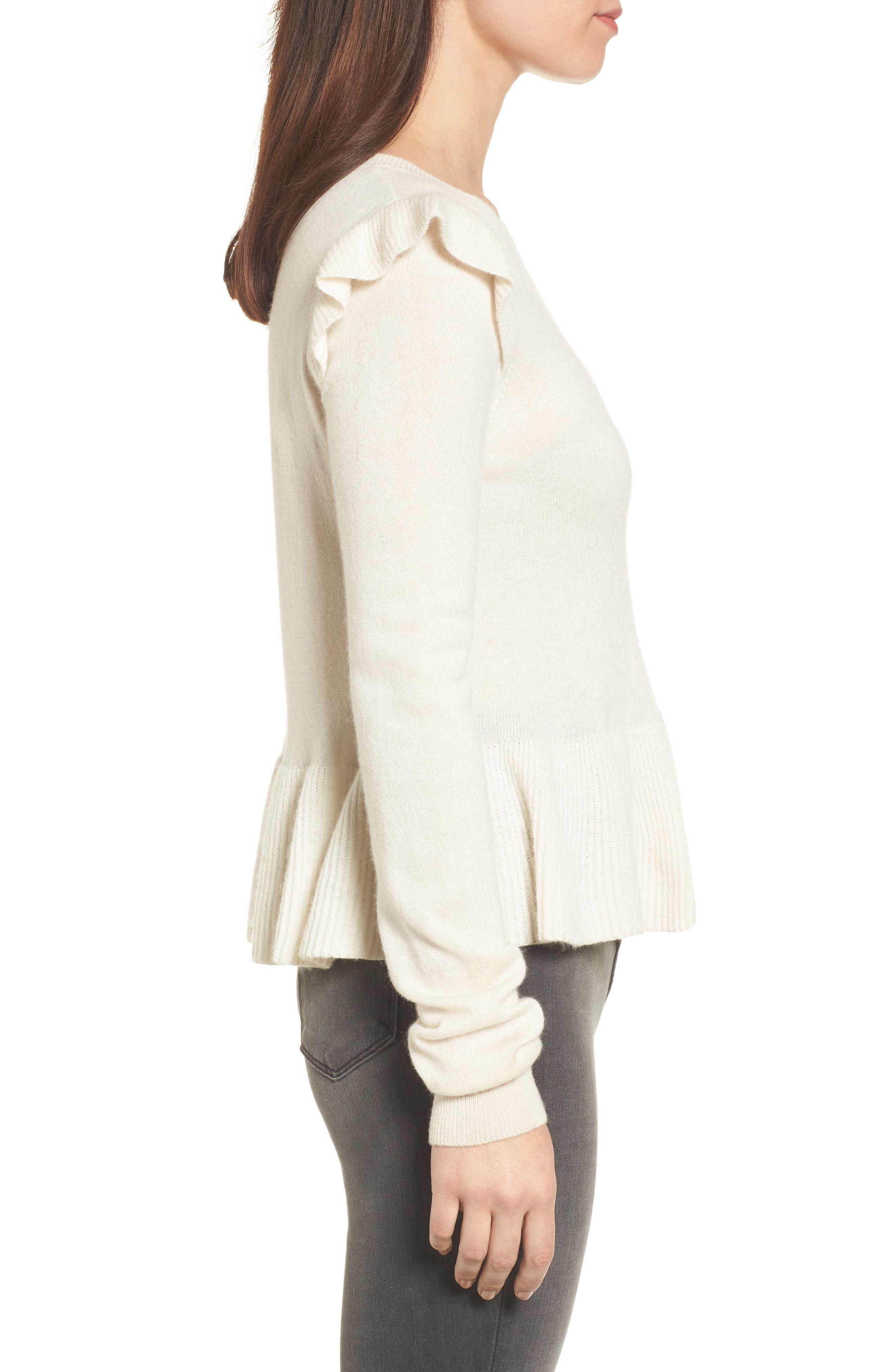 Alternate Image 3  - Rebecca Minkoff Regina Ruffle Wool & Cashmere Sweater