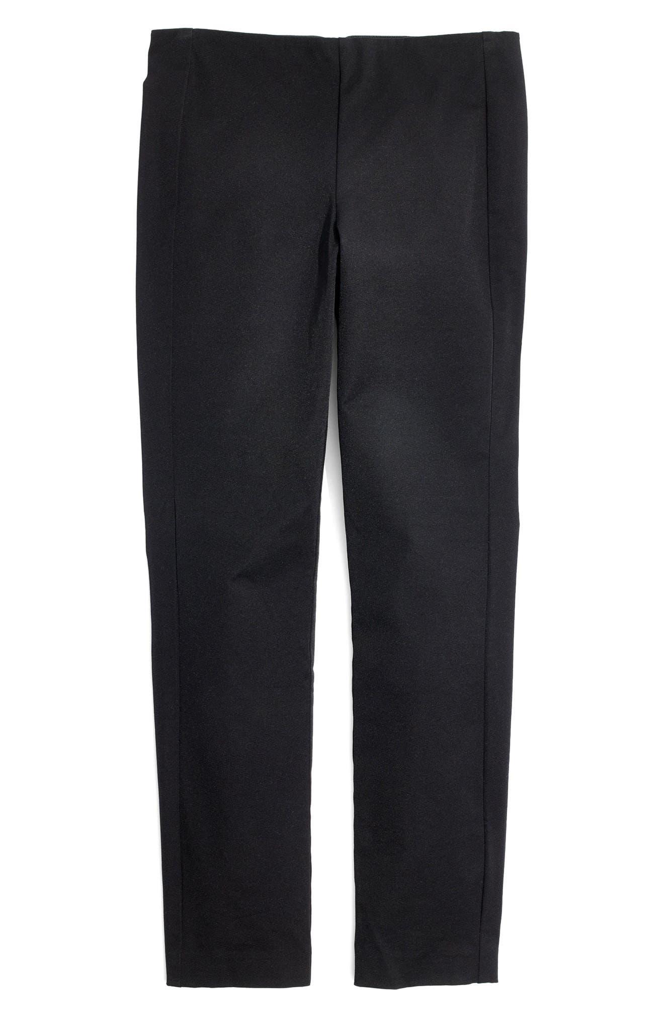 Fraser Slim Ponte Pants,                             Alternate thumbnail 4, color,                             True Black