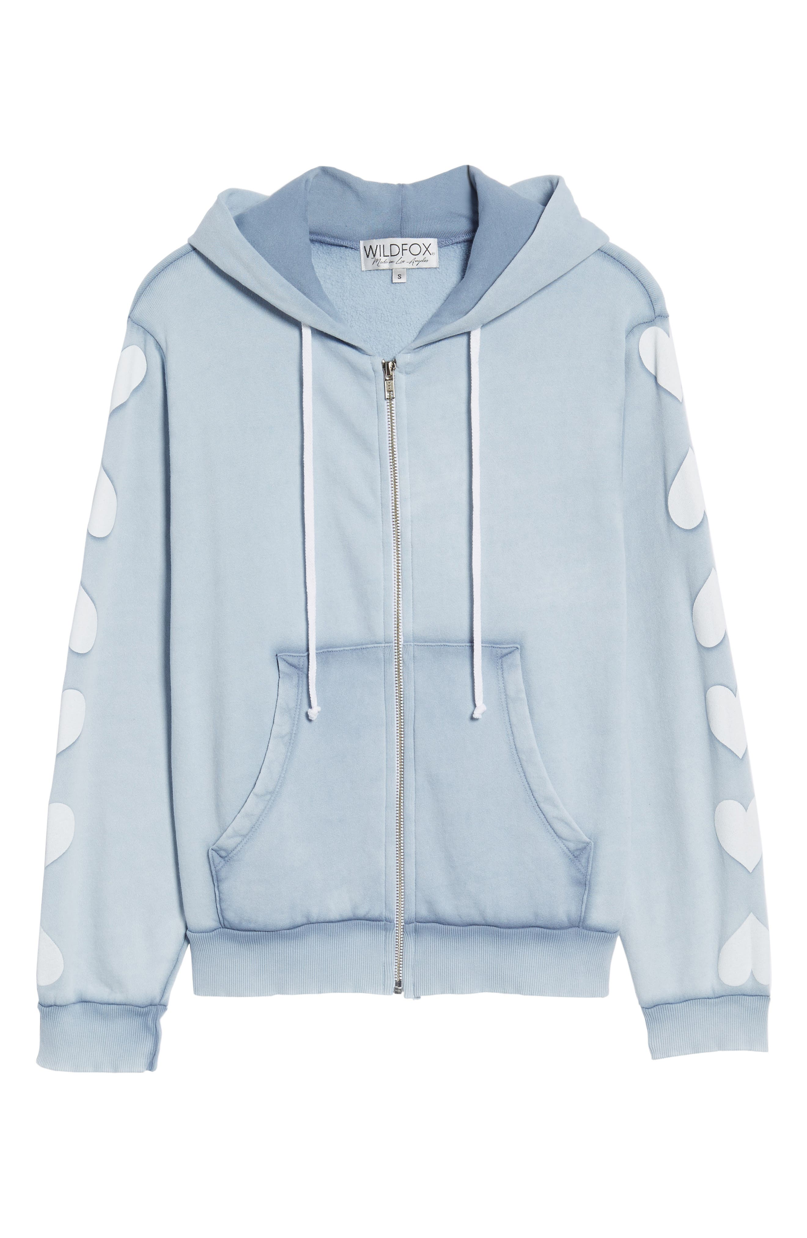 Heart of Hearts Zip Hoodie,                             Alternate thumbnail 6, color,                             Blue Ribbon