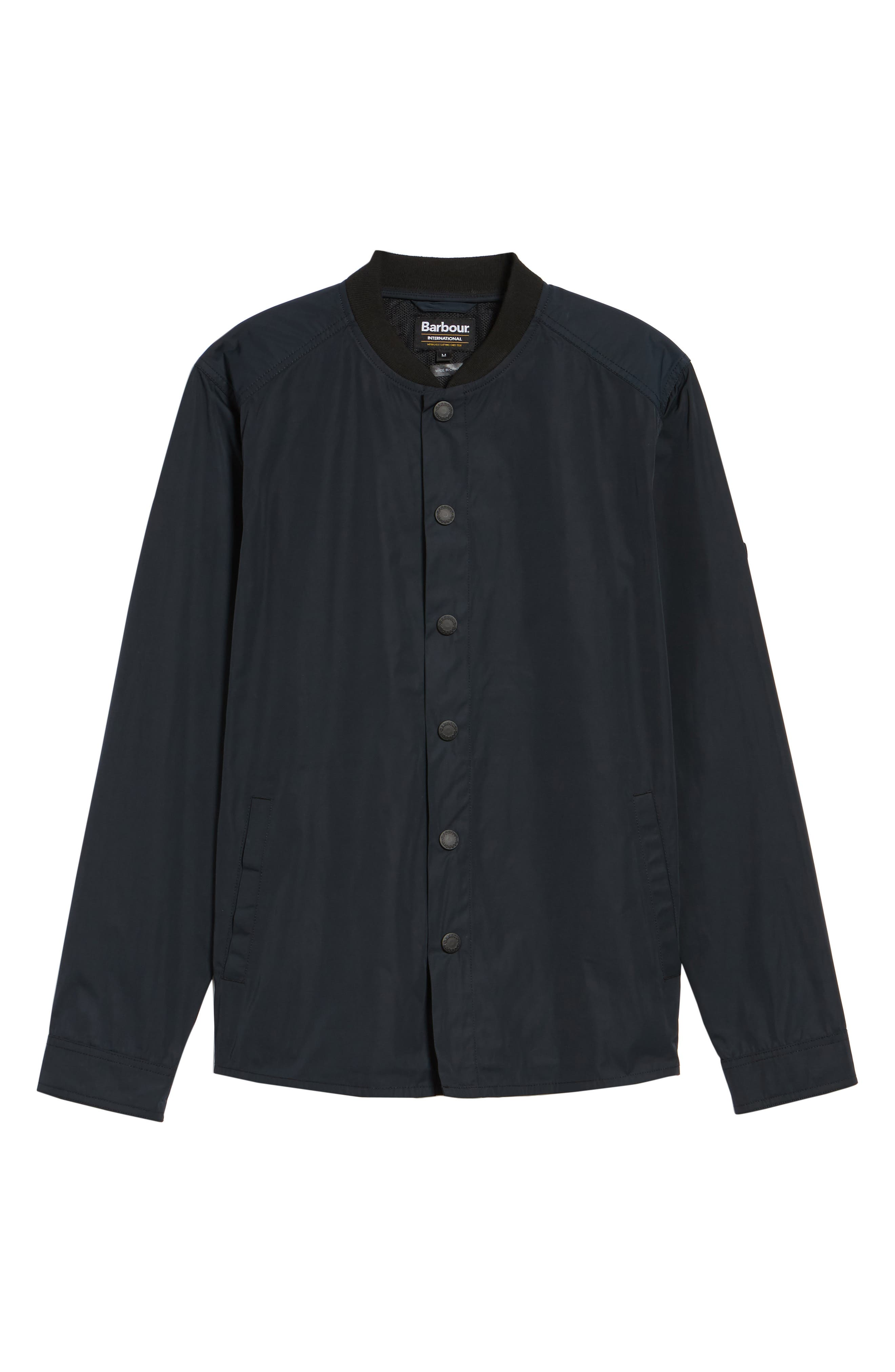 International Snap Front Overshirt,                             Alternate thumbnail 6, color,                             Black