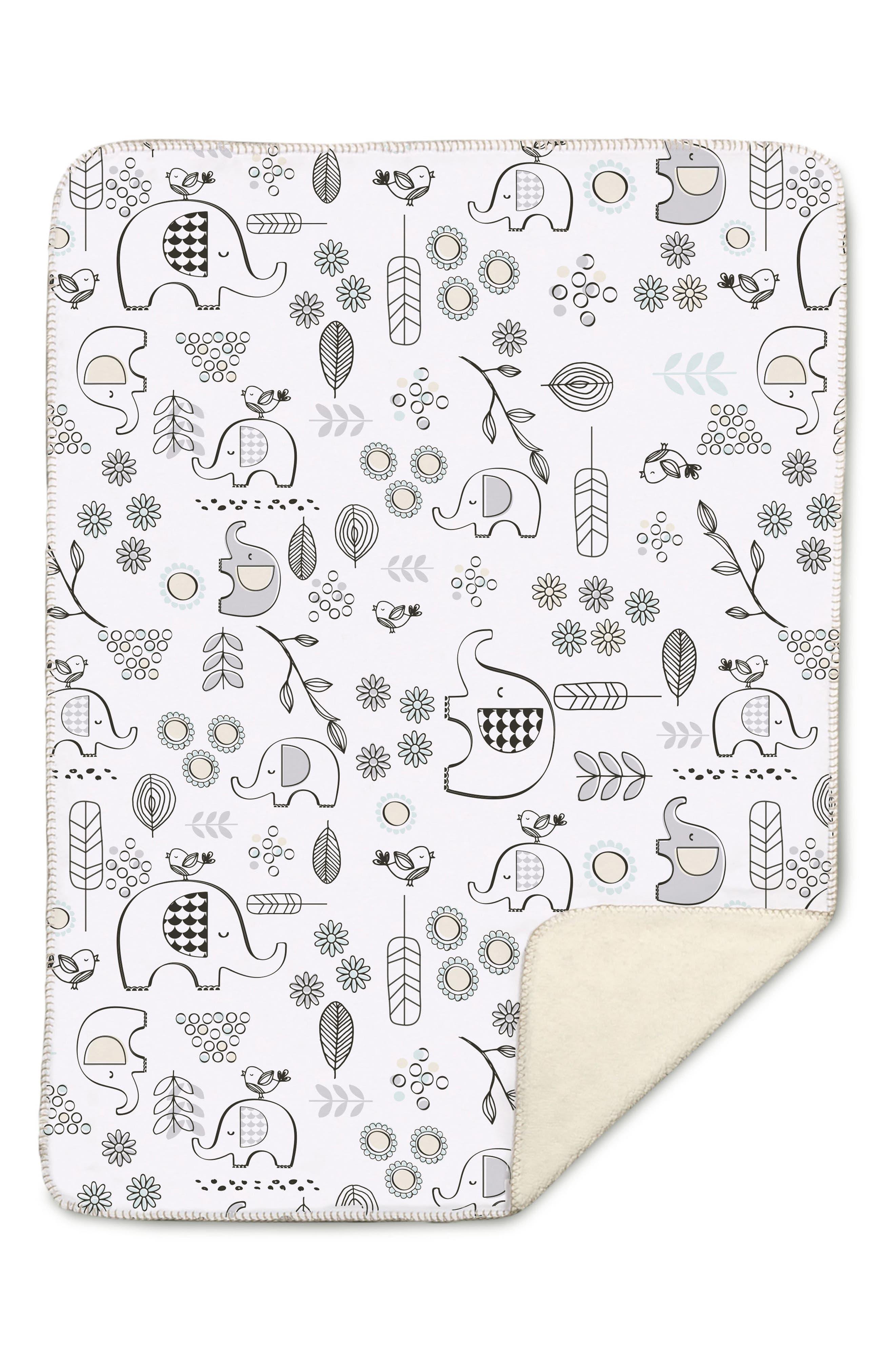 Elle Elephant Blanket,                             Main thumbnail 1, color,                             Kayden - Elle Elephant