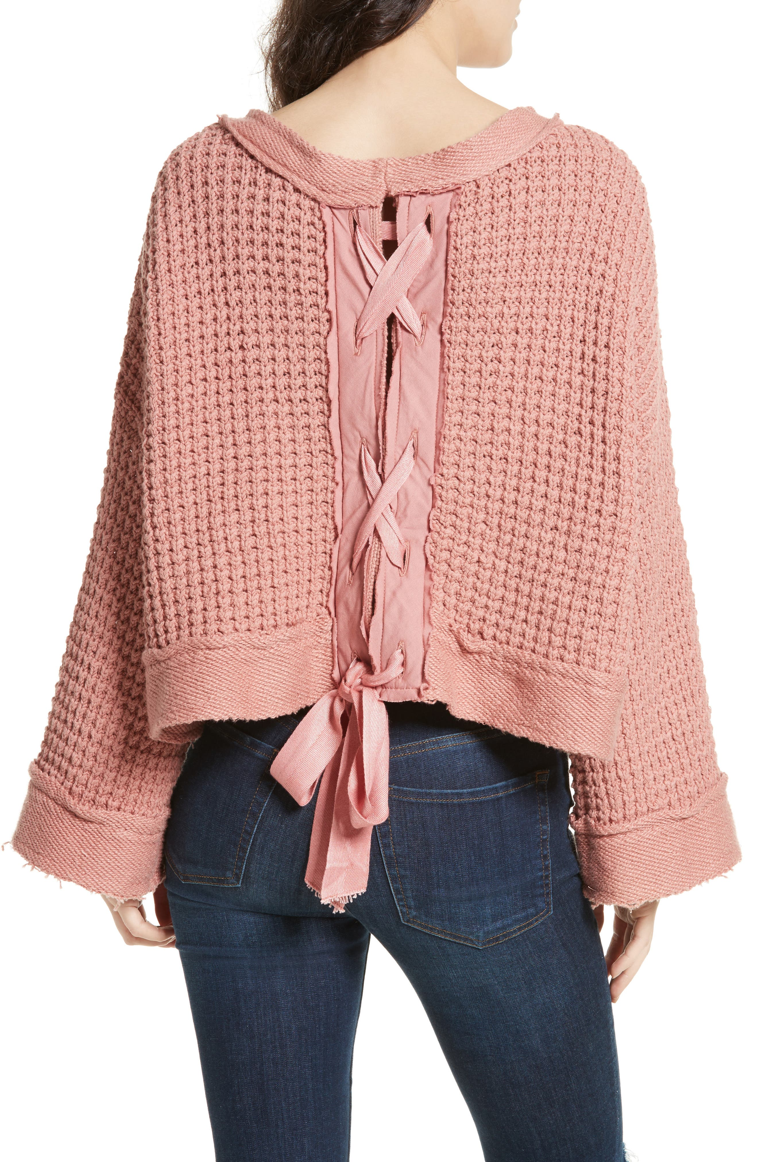 Maybe Baby Bell Sleeve Sweater,                             Alternate thumbnail 2, color,                             Rose