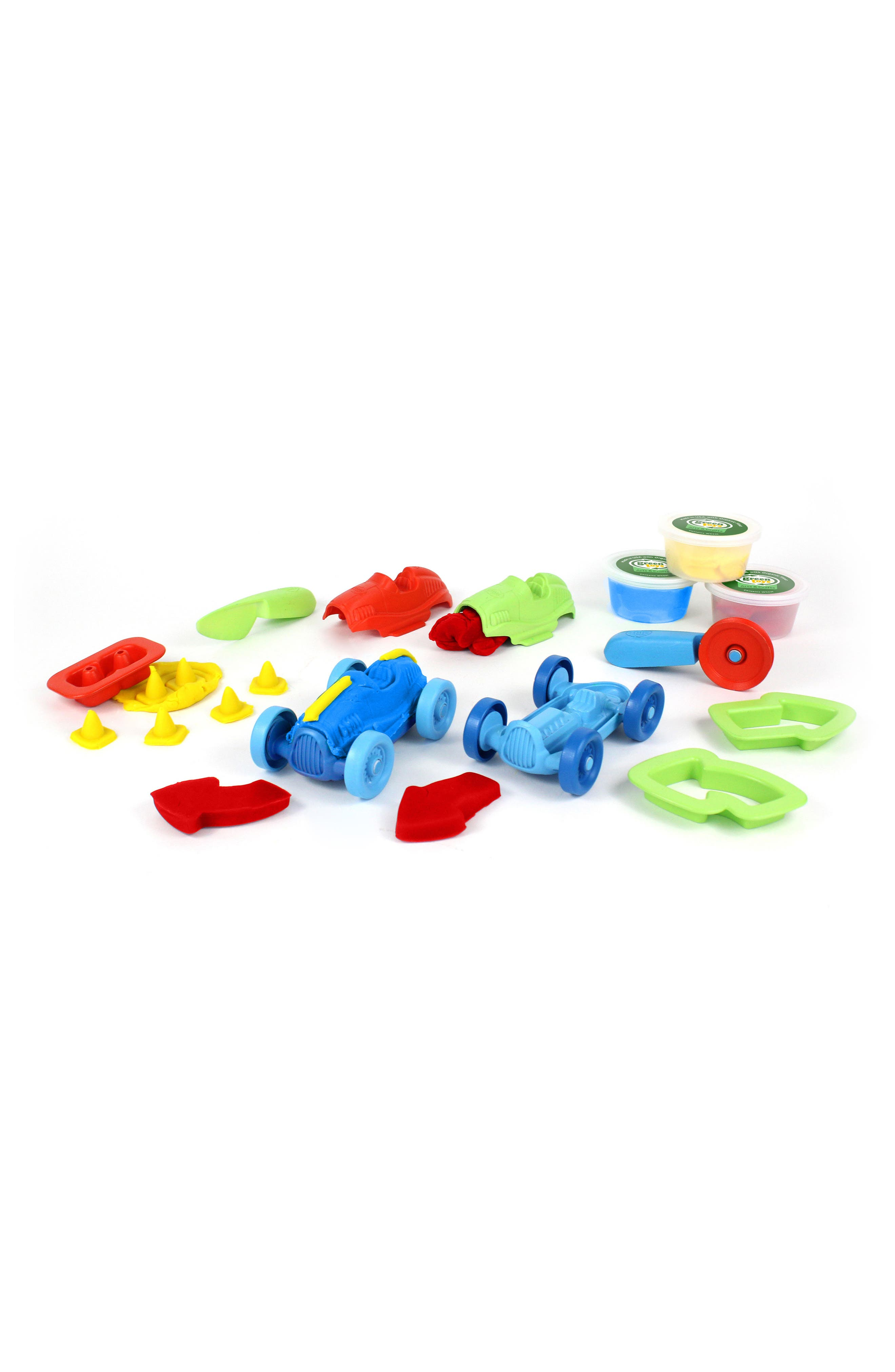 Alternate Image 1 Selected - Green Toys 12-Piece Plastic Racecar Maker Dough Set