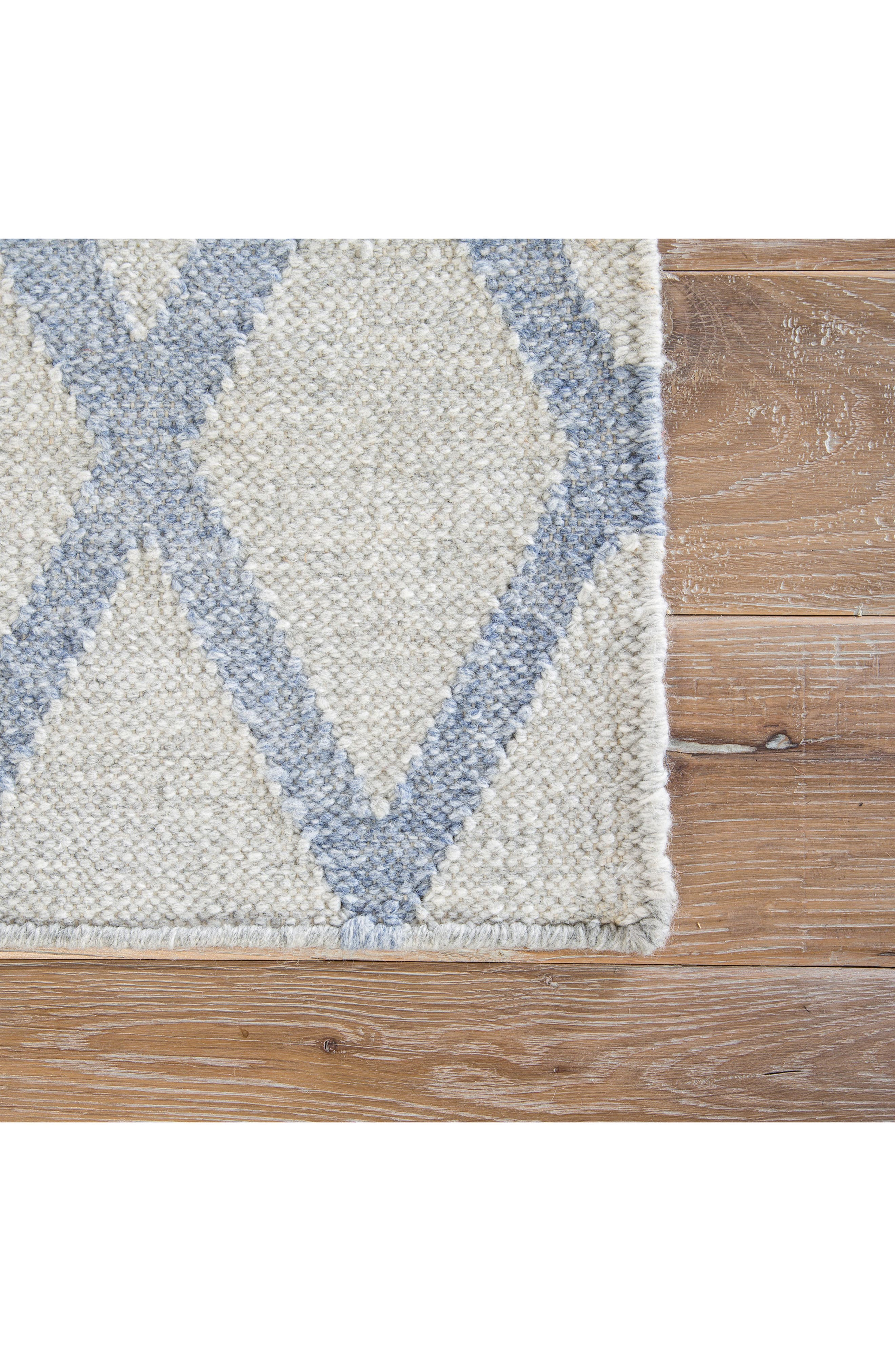 Pyramid Blocks Rug,                             Alternate thumbnail 3, color,                             Faded Denim/ Oatmeal