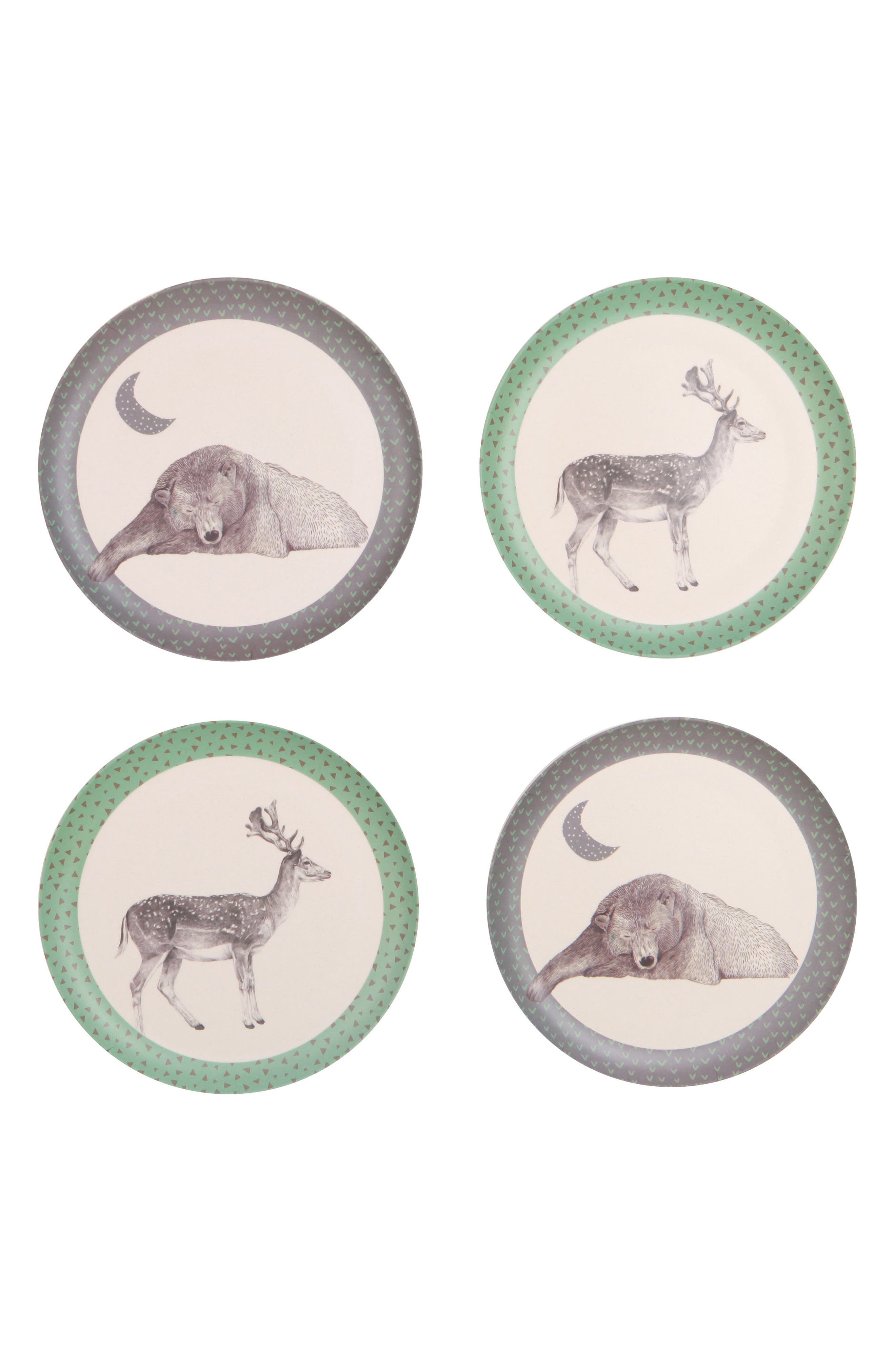 4-Pack Plates,                             Main thumbnail 1, color,                             Bear And Deer