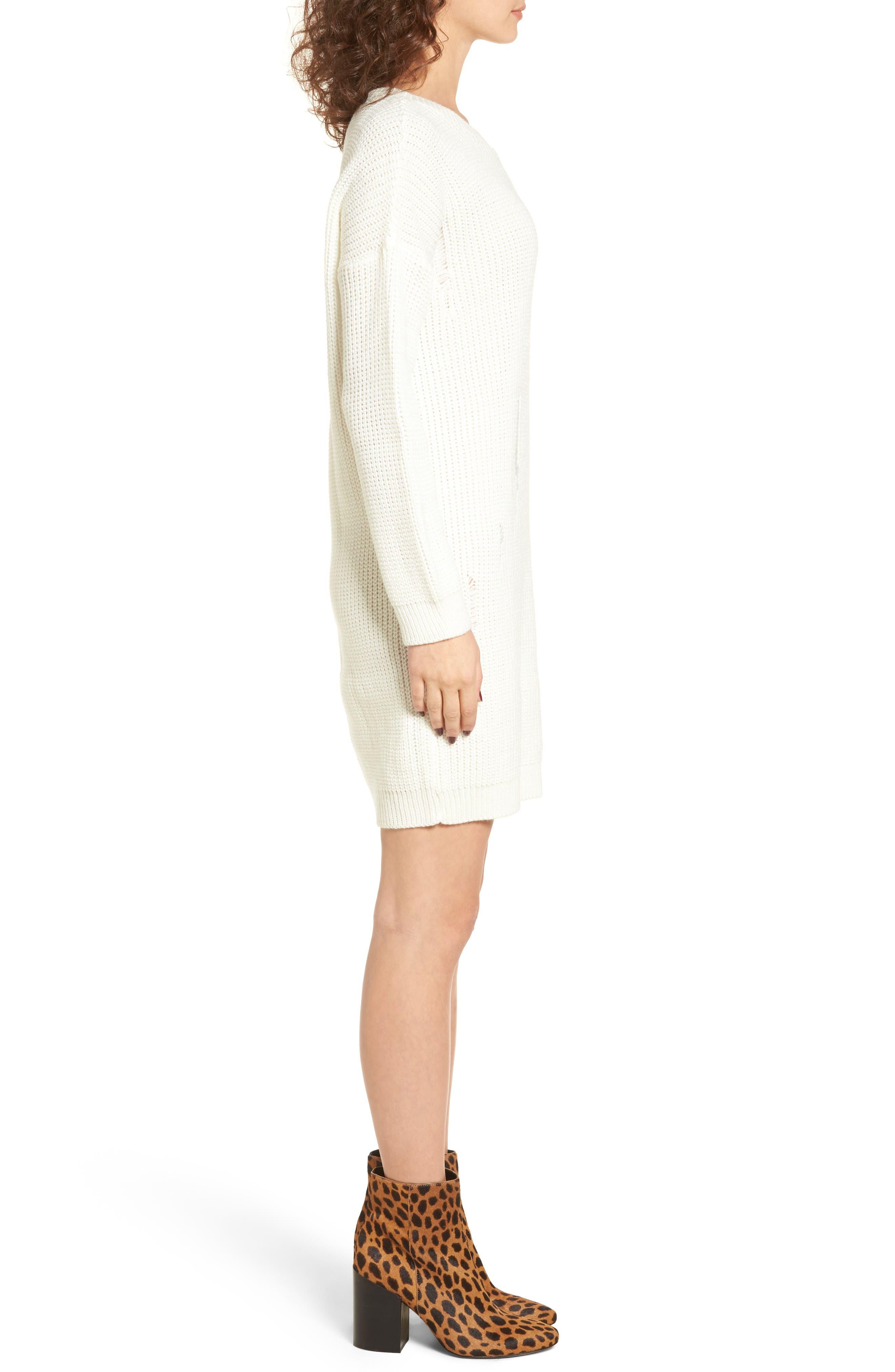 Alternate Image 3  - Cotton Emporium Distressed Sweater Dress