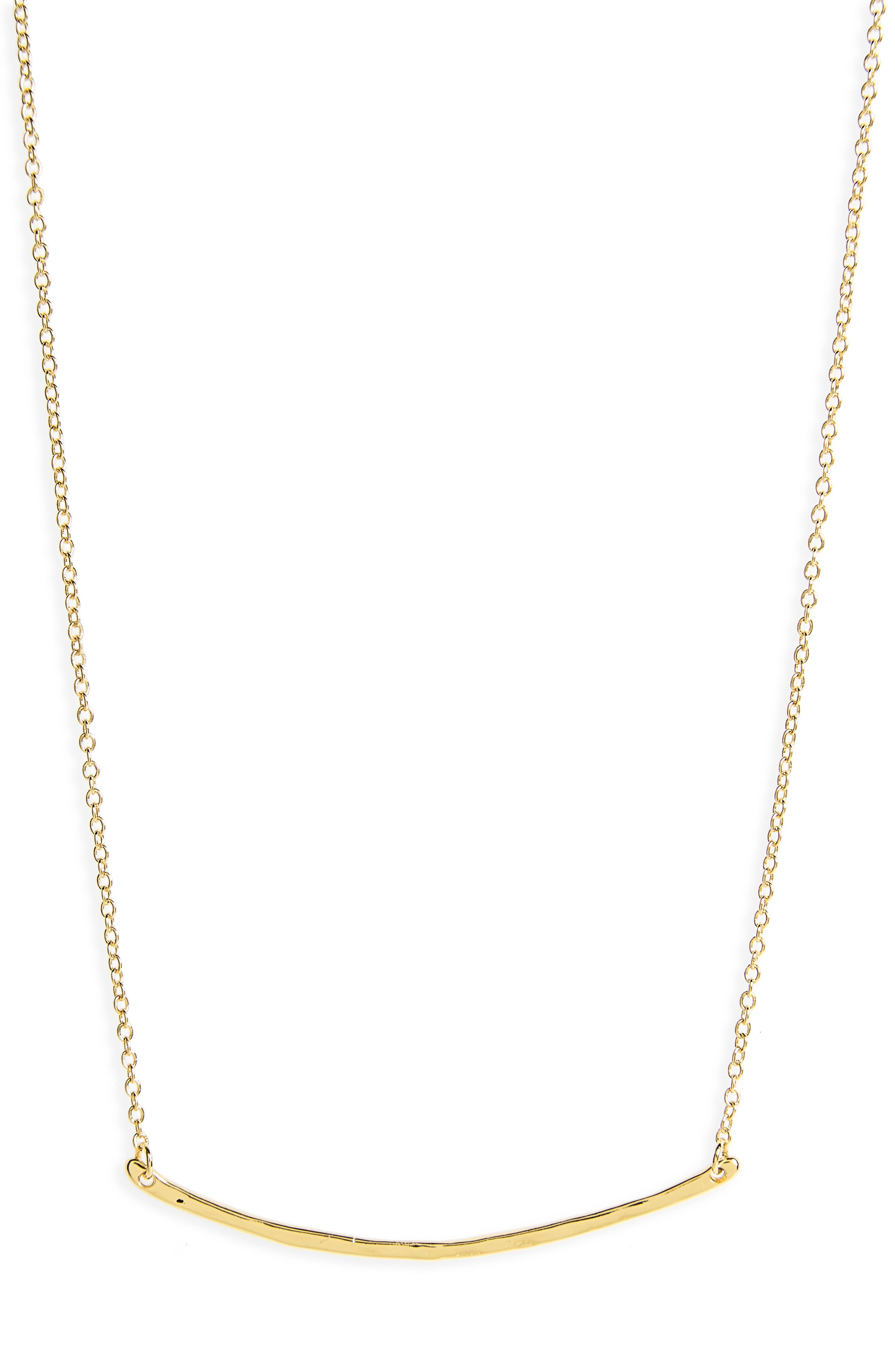 Taner Bar Small Necklace,                         Main,                         color, Gold