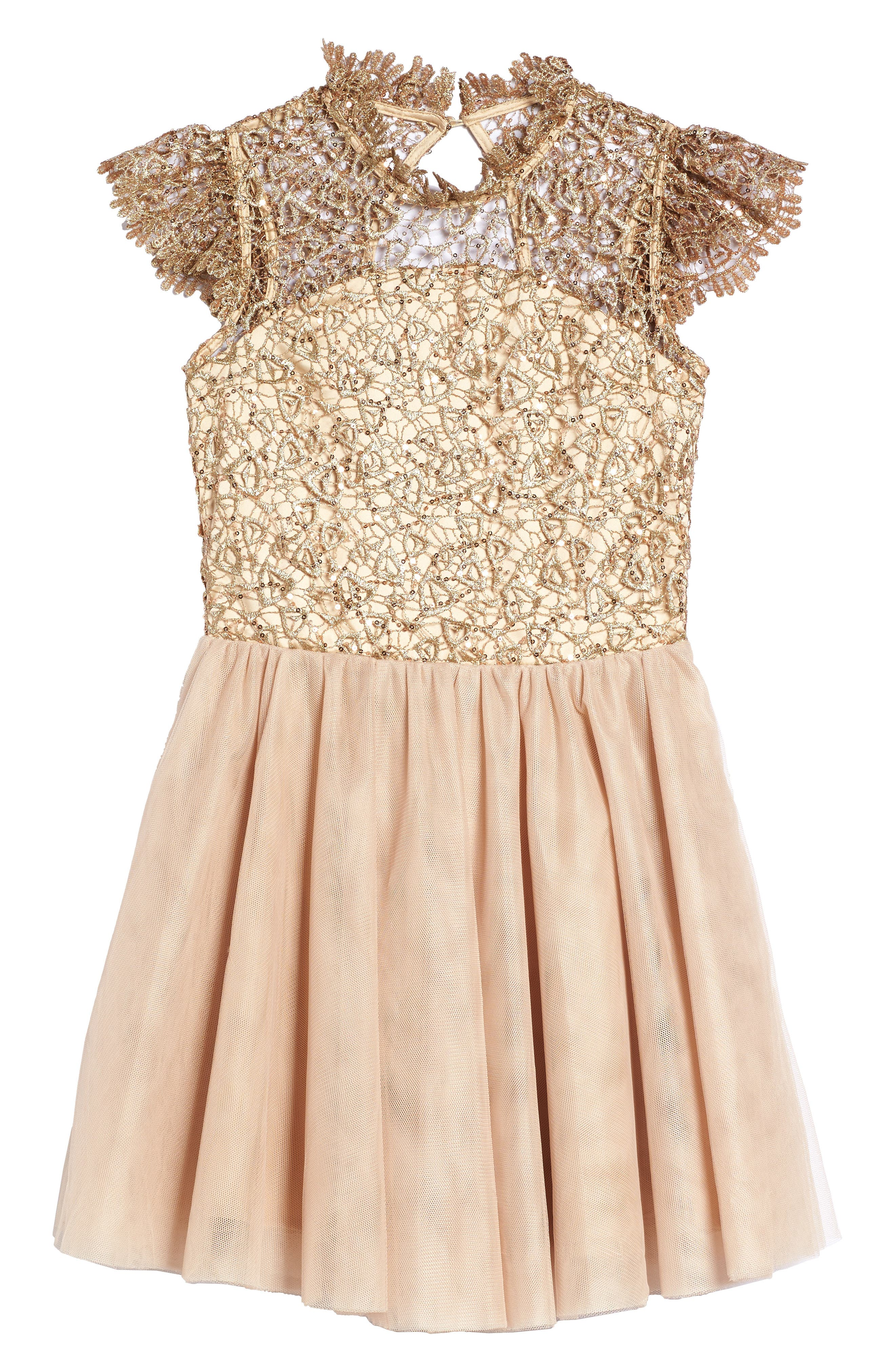 Bling Rocky Dress,                         Main,                         color, Tan