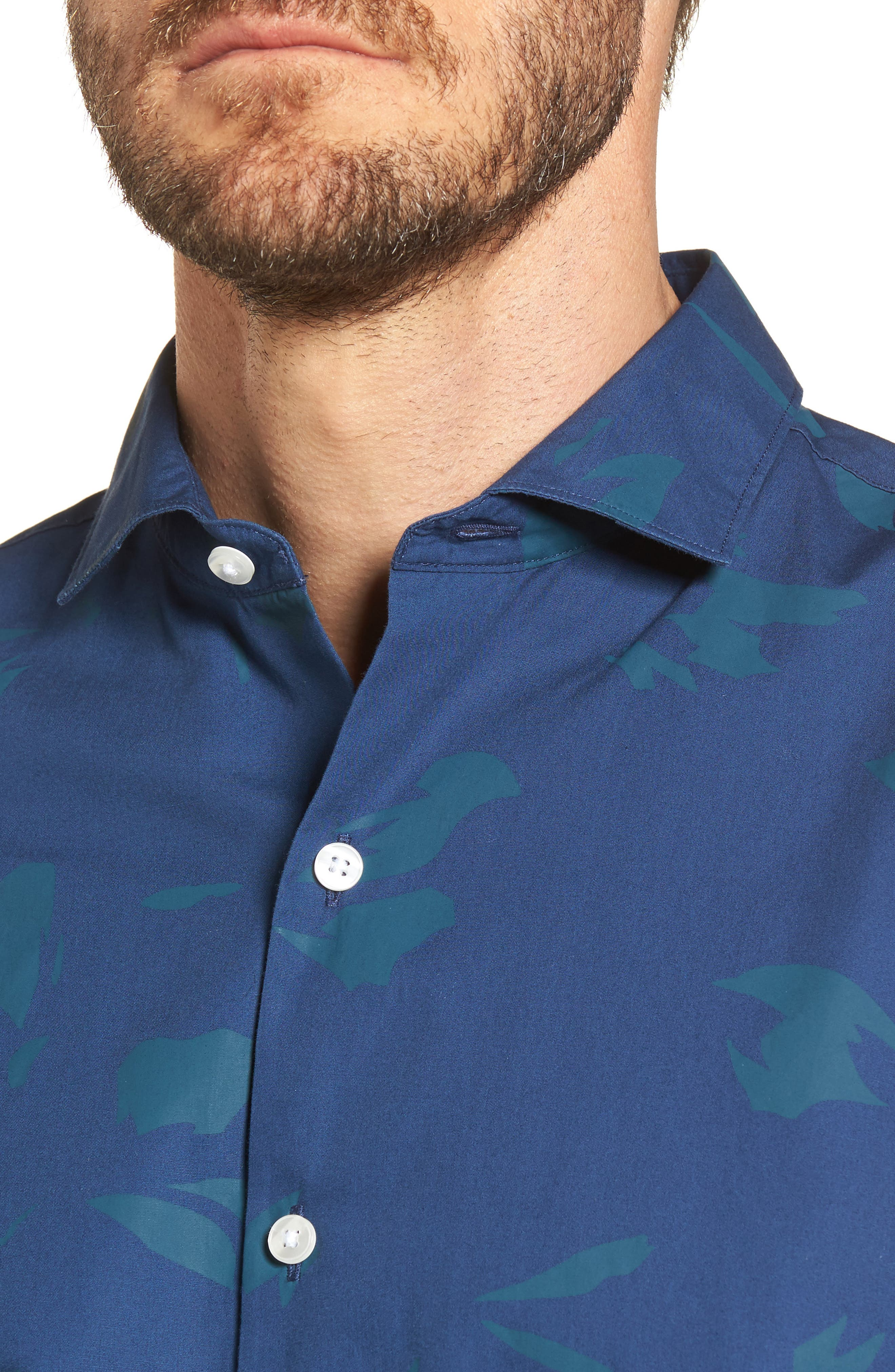 Alternate Image 4  - Bonobos Unbutton Down Slim Fit Abstract Print Sport Shirt