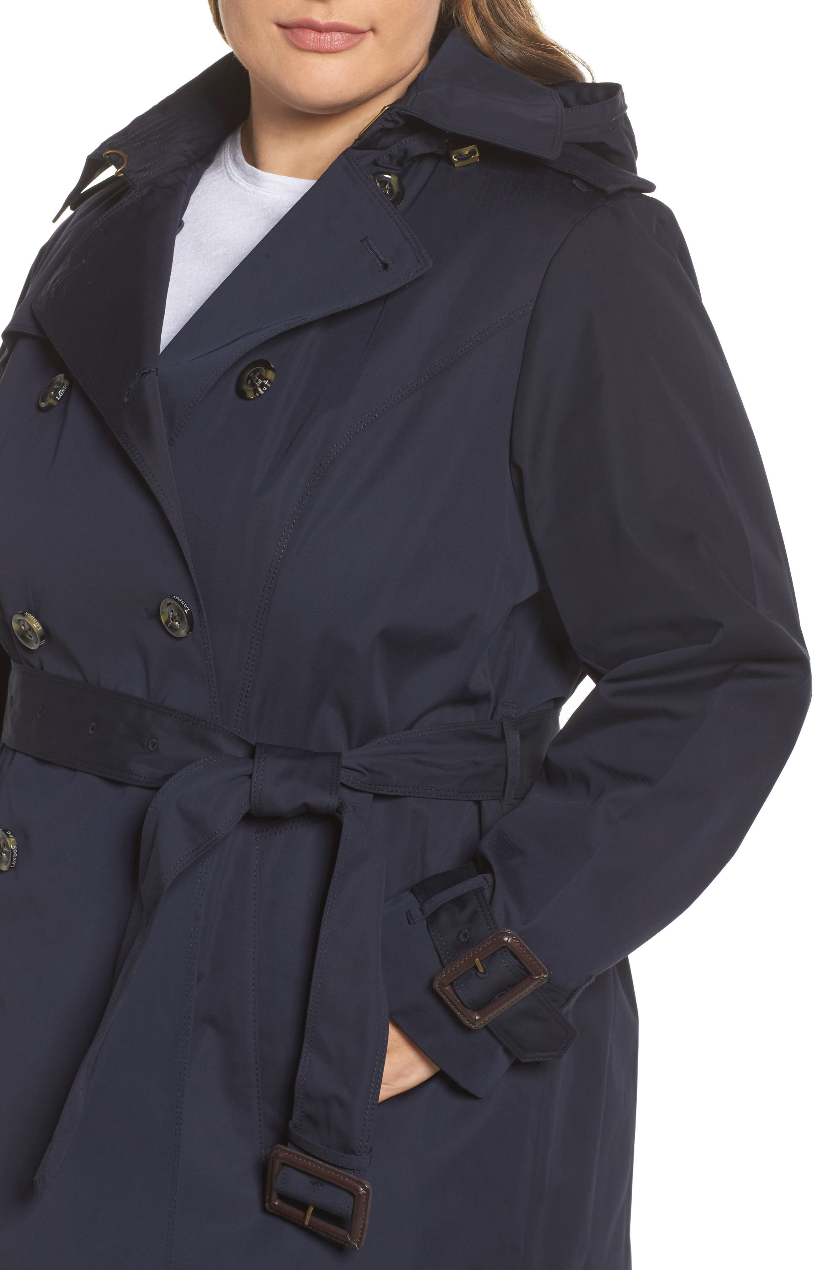 Alternate Image 4  - London Fog Heritage Trench with Detachable Liner (Plus Size)