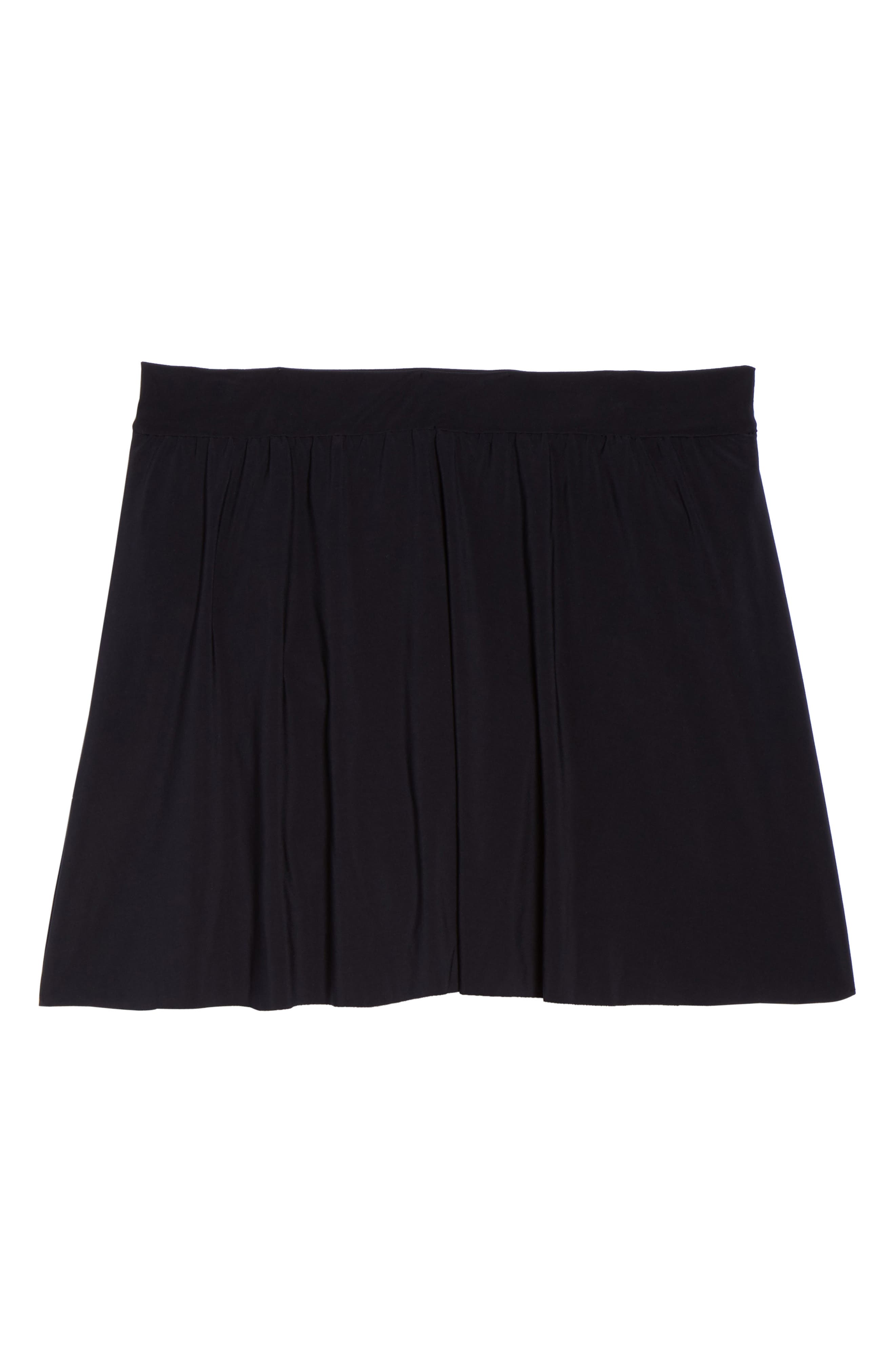 Skirted Bikini Bottoms,                             Alternate thumbnail 6, color,                             Black