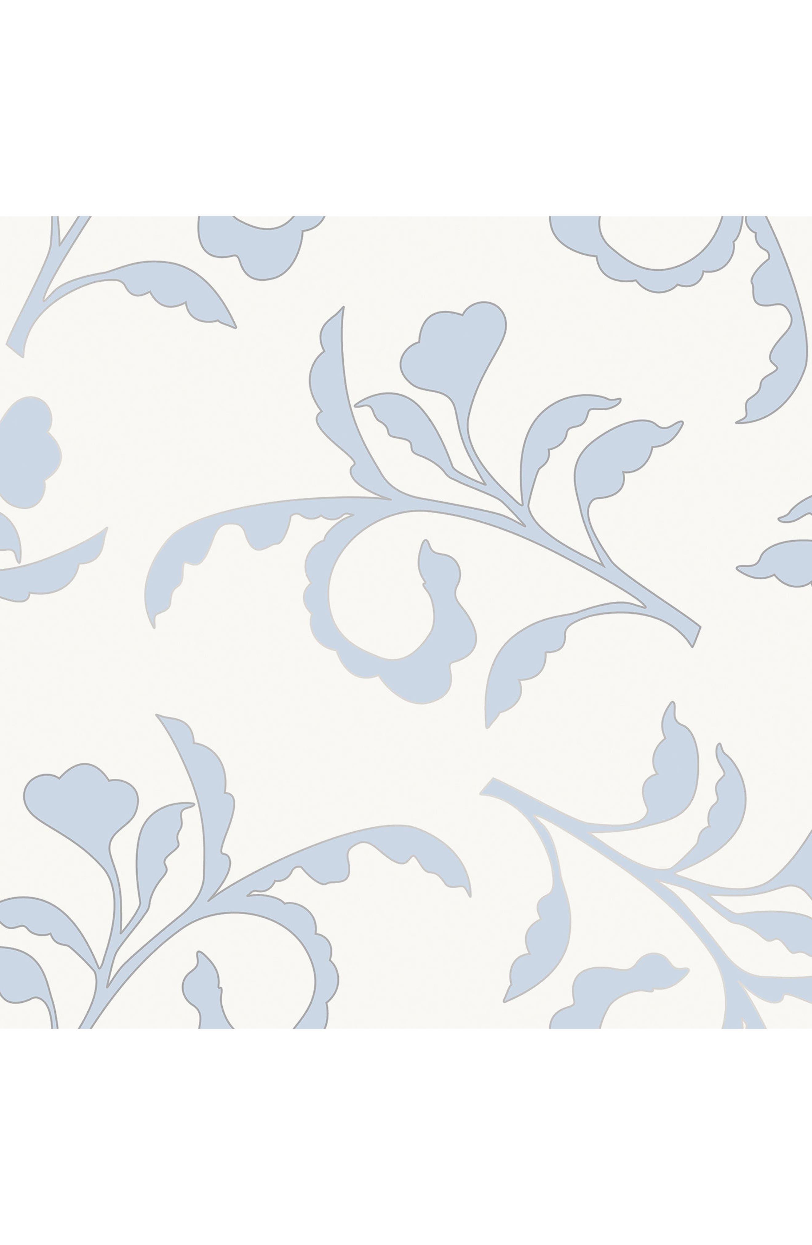 Big Branch Self Adhesive Vinyl Wallpaper,                         Main,                         color, Light Blue/ Ivory