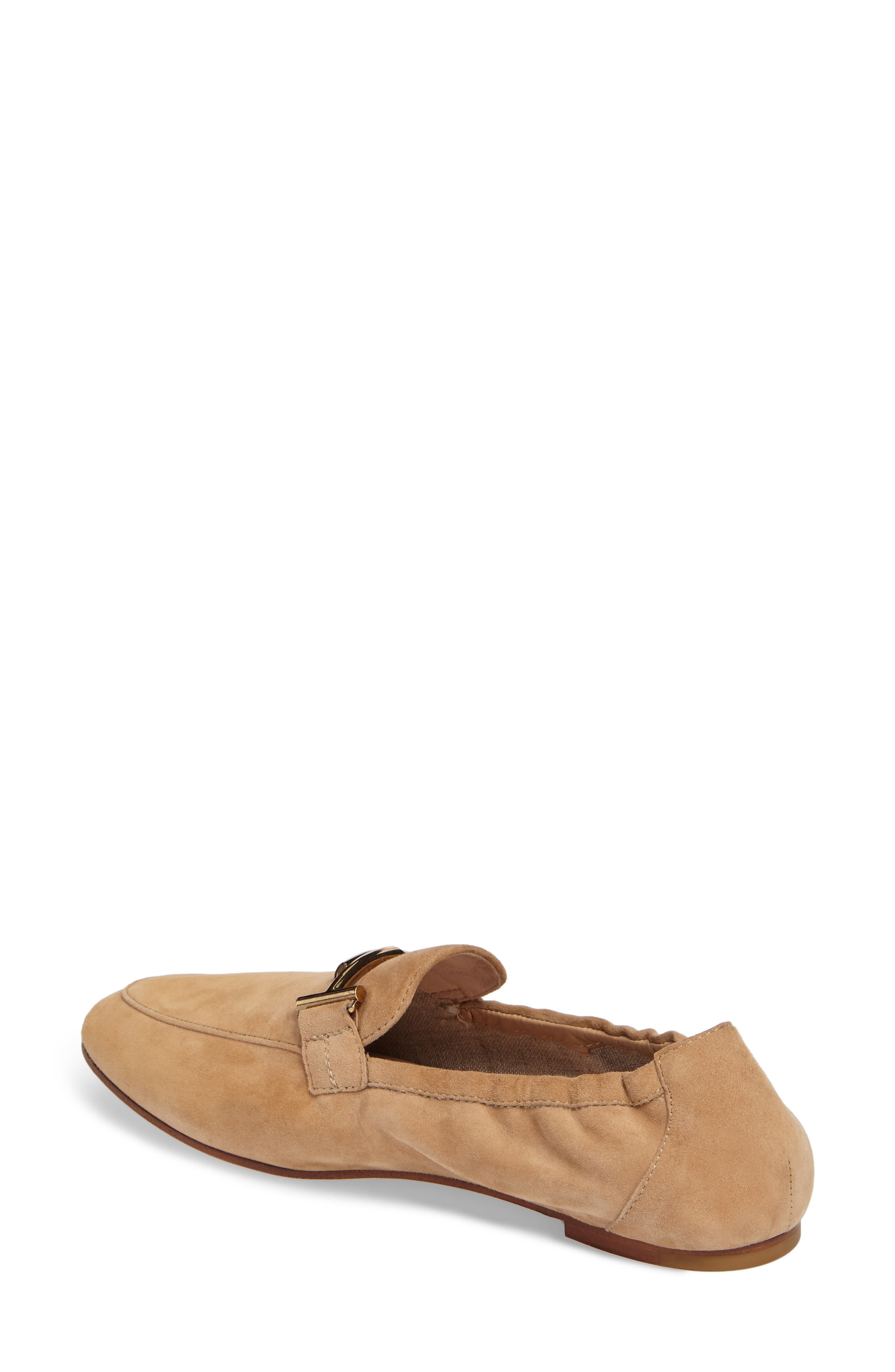 Double T Scrunch Loafer,                             Alternate thumbnail 2, color,                             Tan