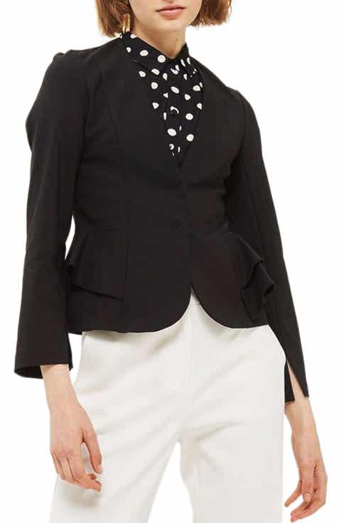 Topshop Ruffle Peplum Jacket Compare Price