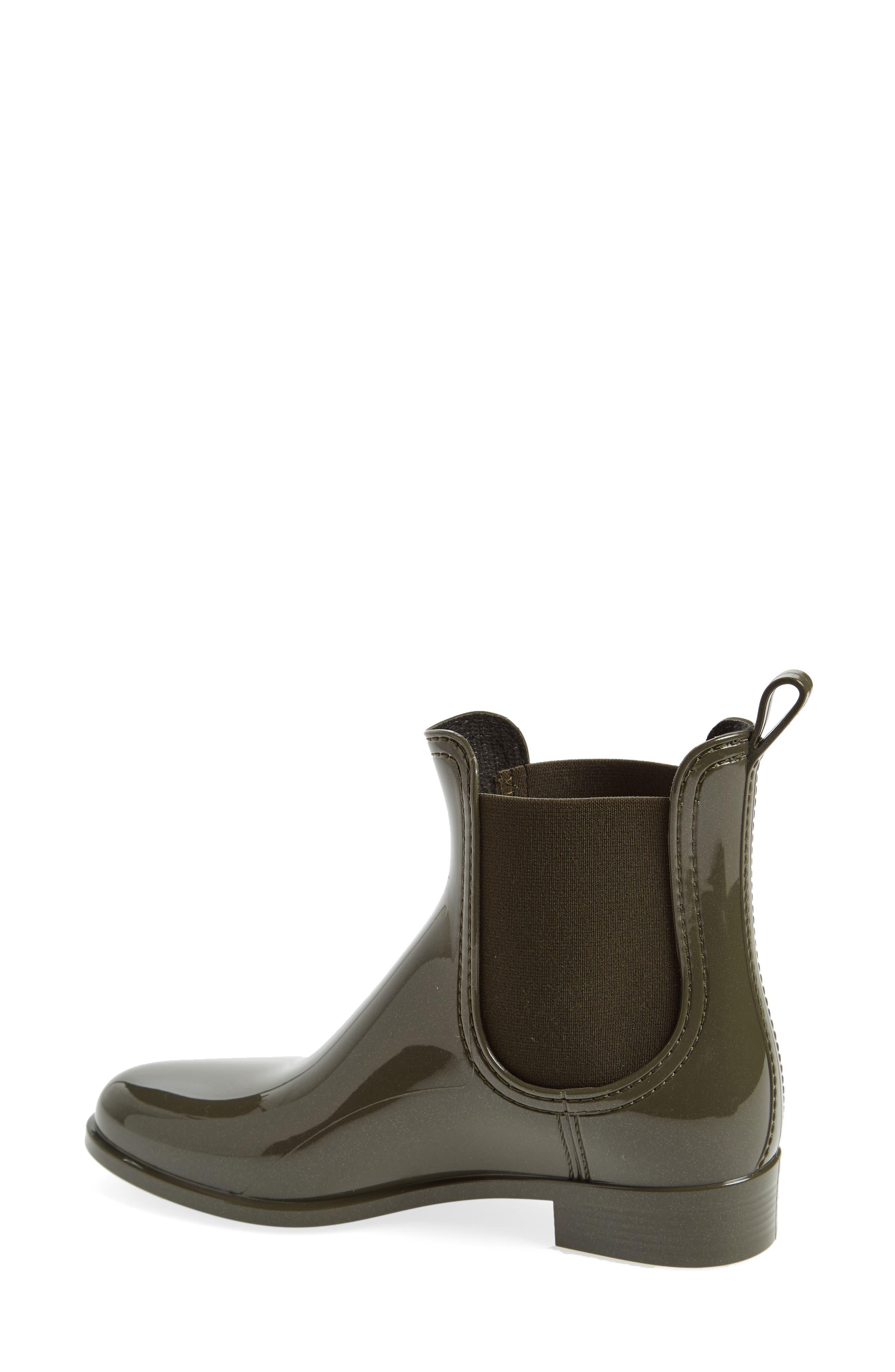 Comfy Waterproof Chelsea Boot,                             Alternate thumbnail 2, color,                             Metal Green Gloss