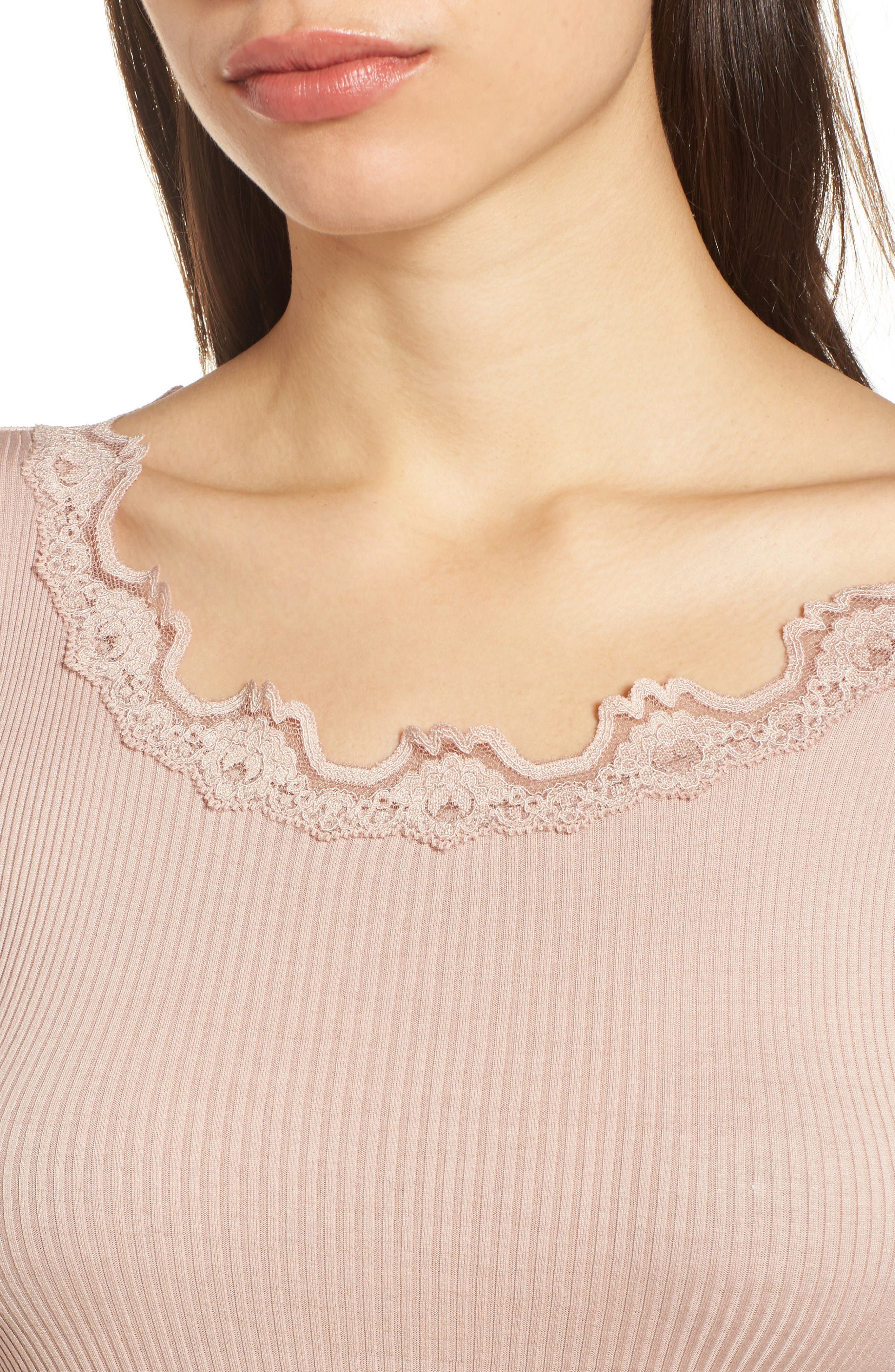 Alternate Image 4  - Rosemunde Babette Lace Trim Top