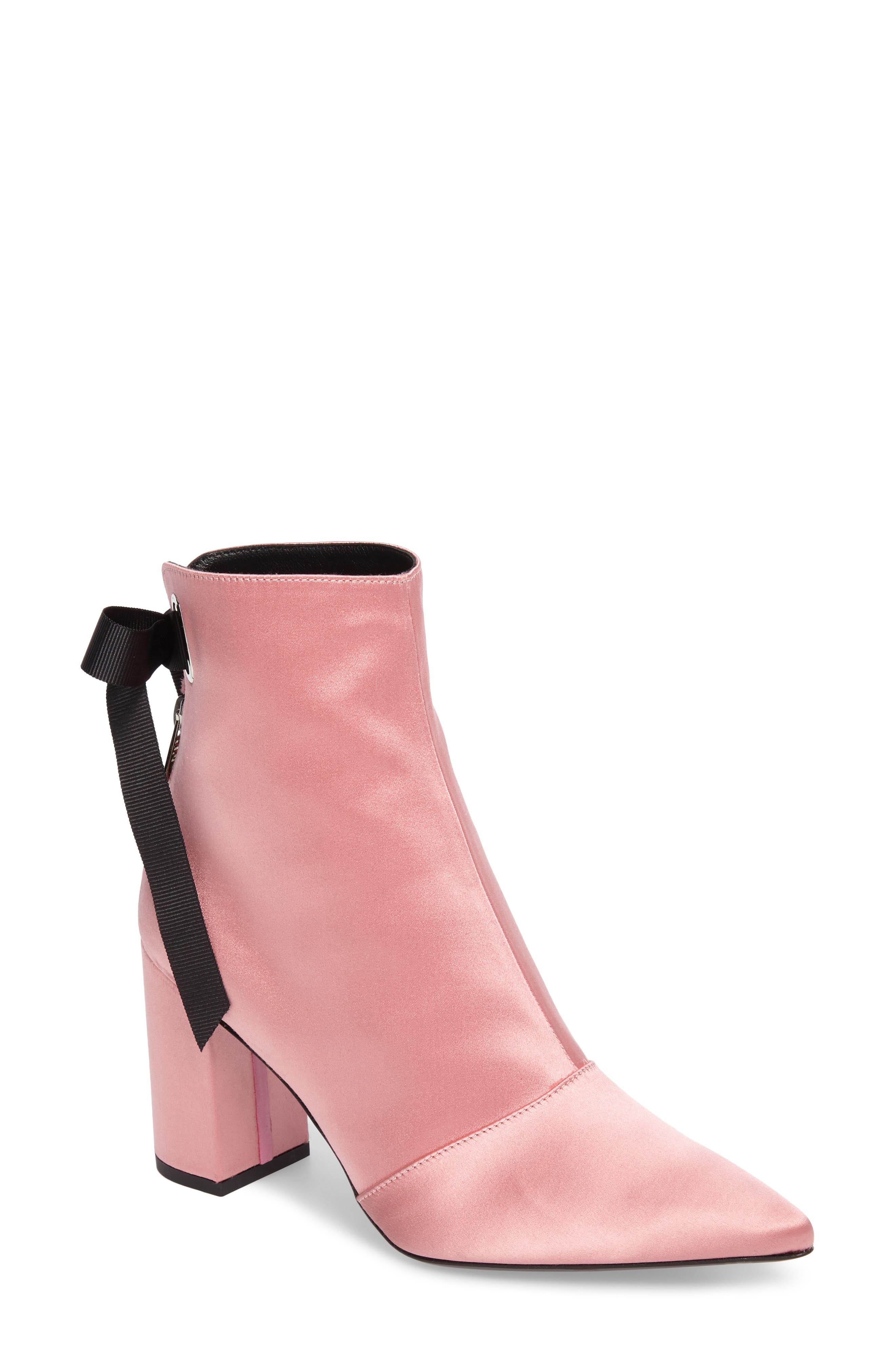 x Self-Portrait Karlis Pointy Toe Bootie,                         Main,                         color, Pink