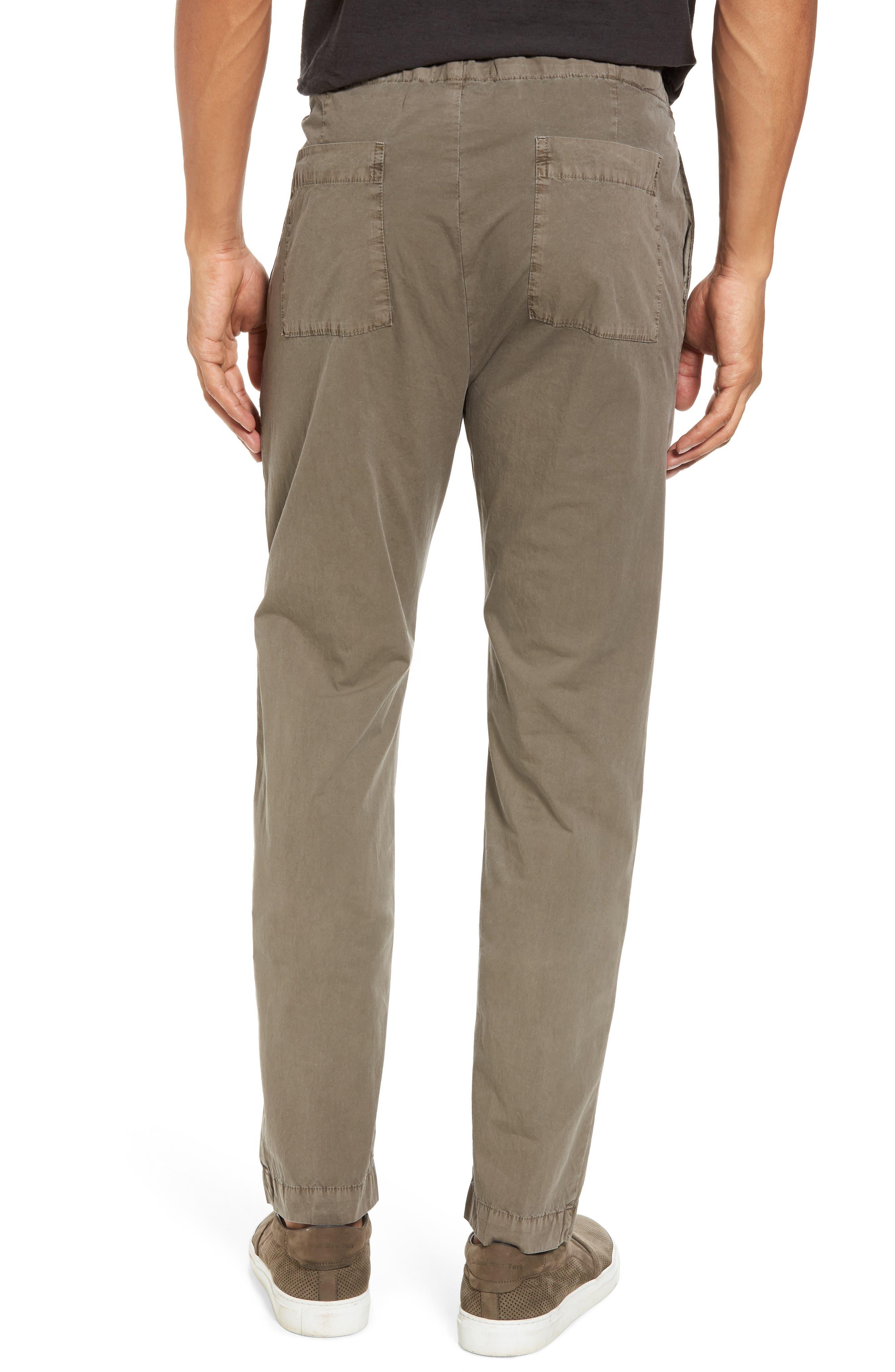 Slim Stretch Poplin Drawcord Pants,                             Alternate thumbnail 2, color,                             Greystone Pigment