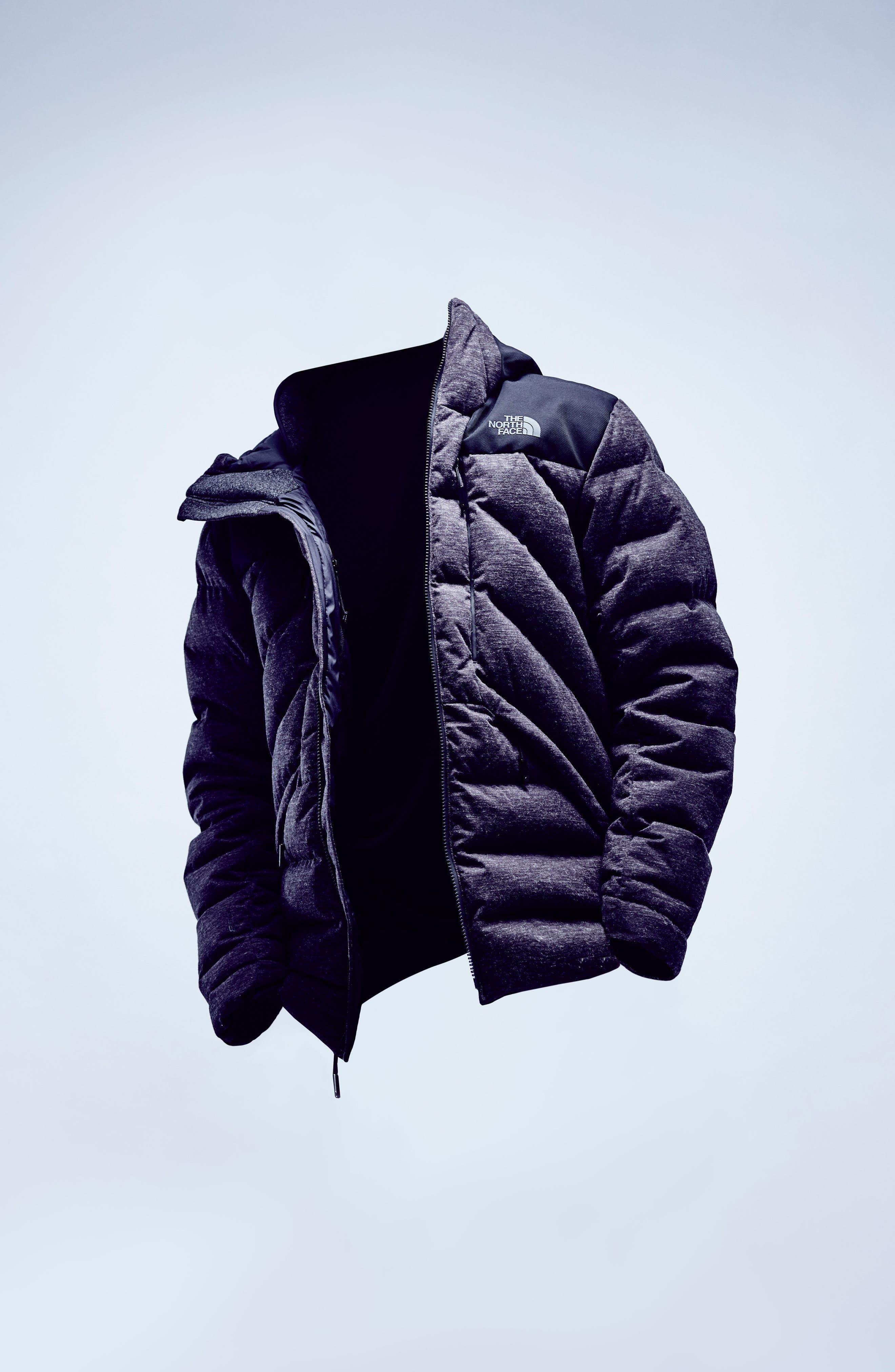 Cryos Waterproof Down Jacket,                             Alternate thumbnail 6, color,                             Dark Grey Heather