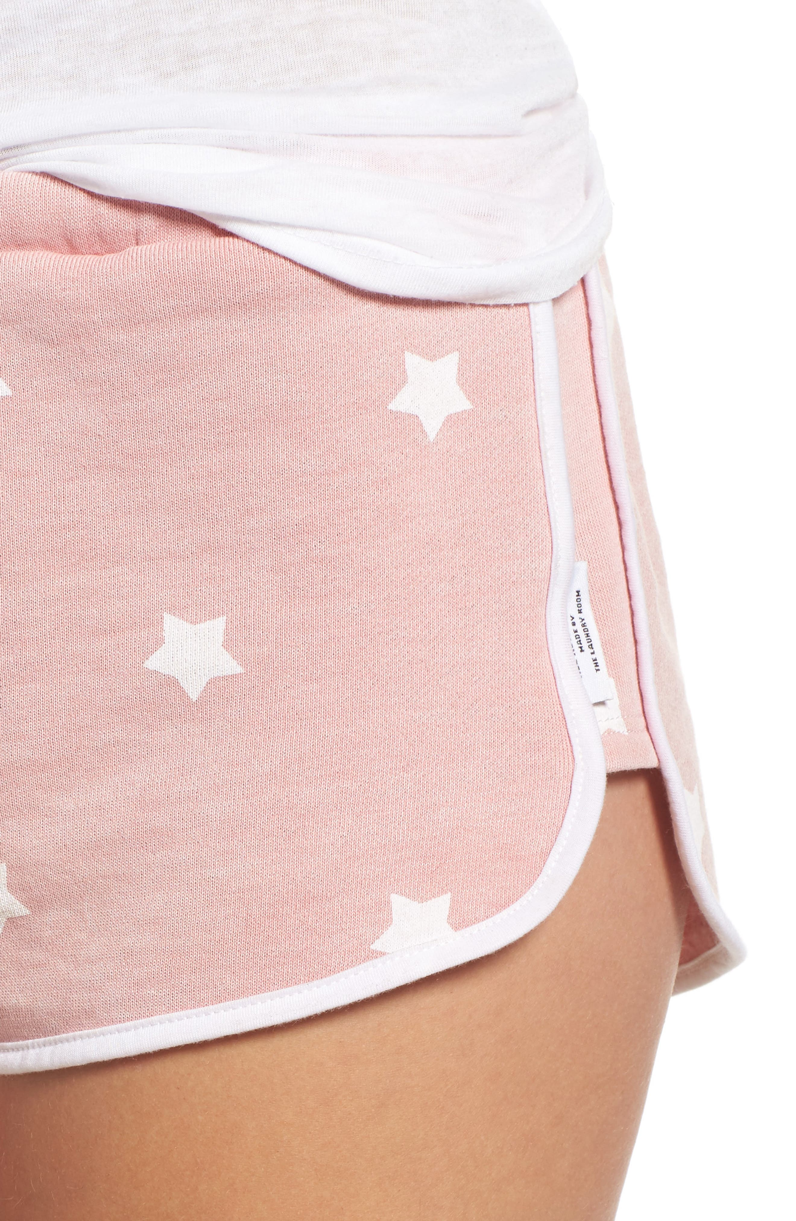 Cozy Crew Lounge Shorts,                             Alternate thumbnail 5, color,                             Champagne Star