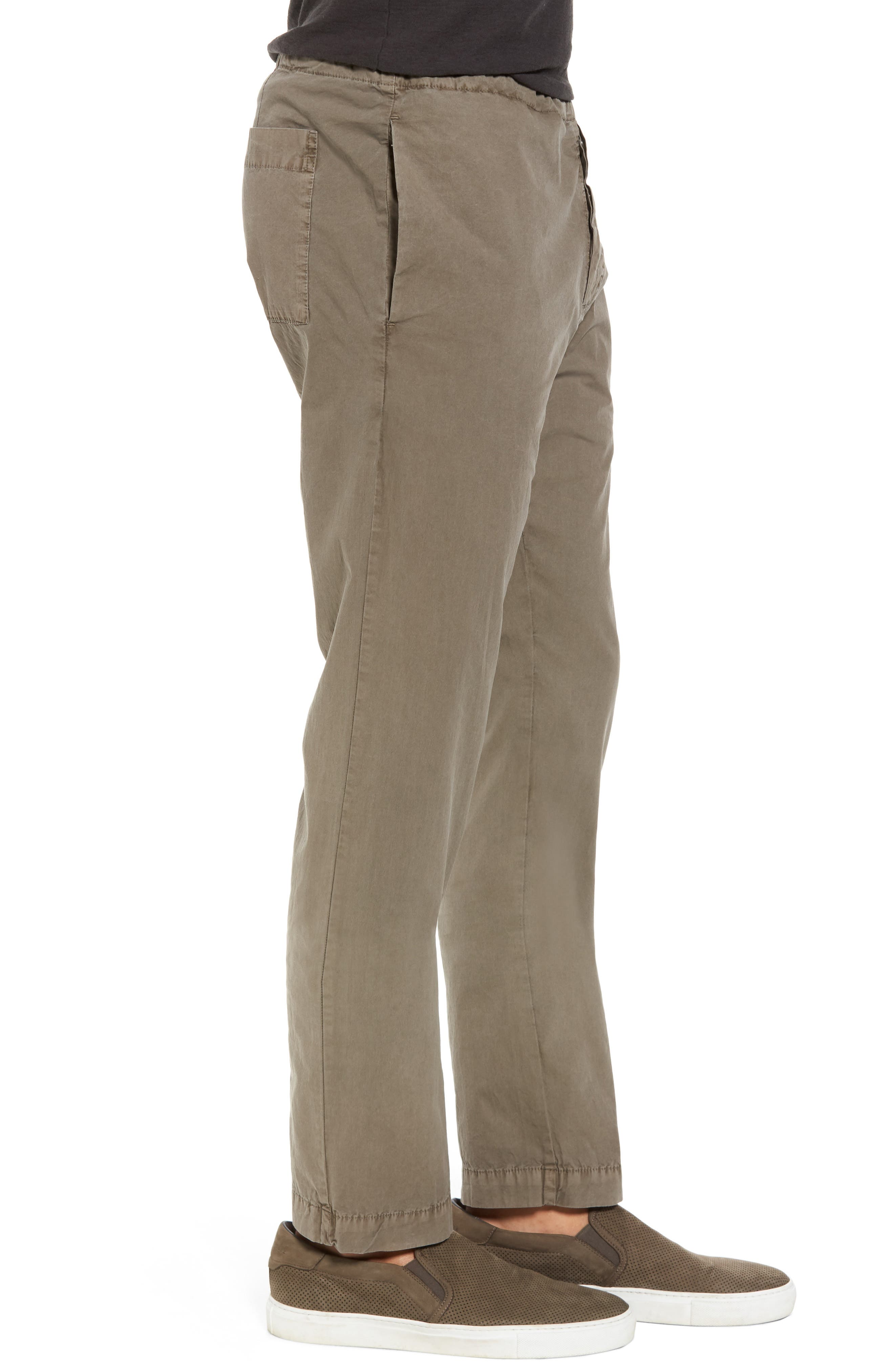 Slim Stretch Poplin Drawcord Pants,                             Alternate thumbnail 3, color,                             Greystone Pigment