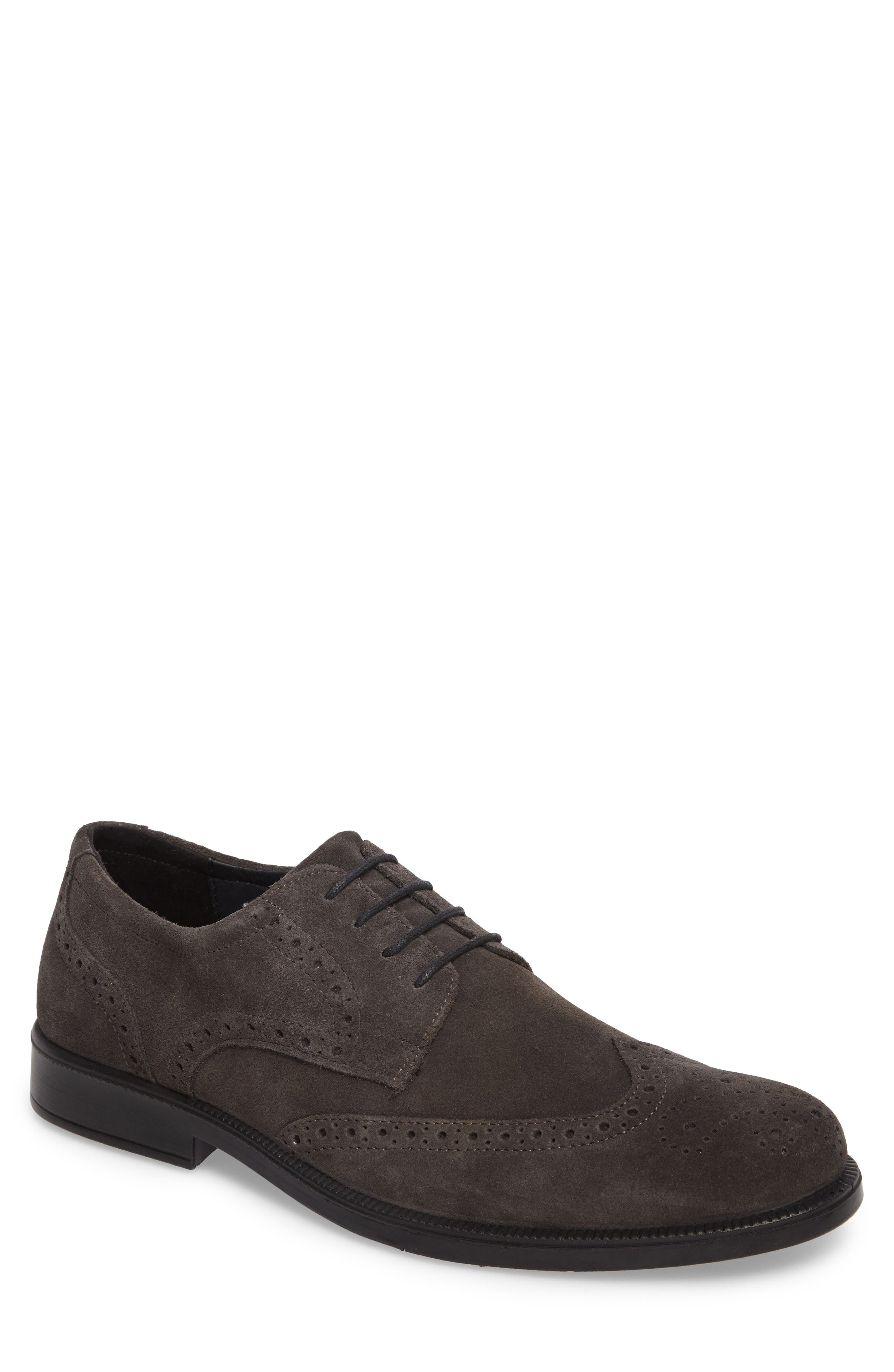 Trent Wingtip,                             Main thumbnail 1, color,                             Grey Suede
